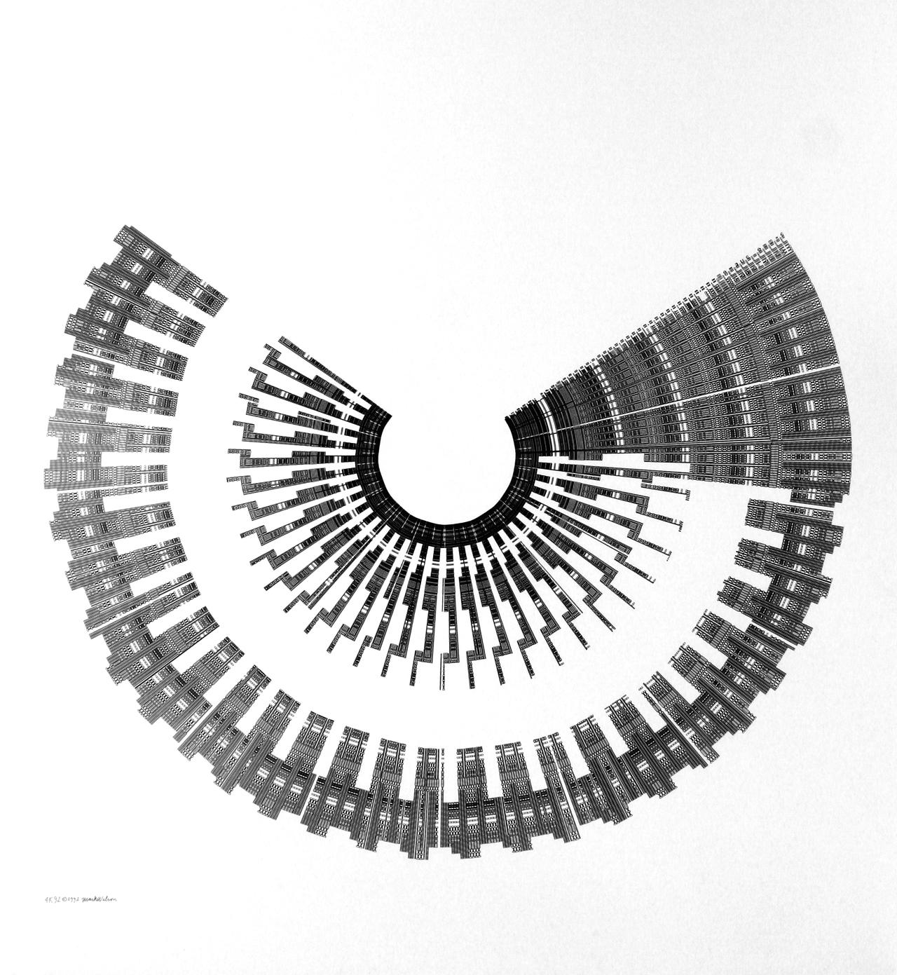 Mark Wilson, 4K92, Plotterzeichnung, 90 x 90 cm, 1992