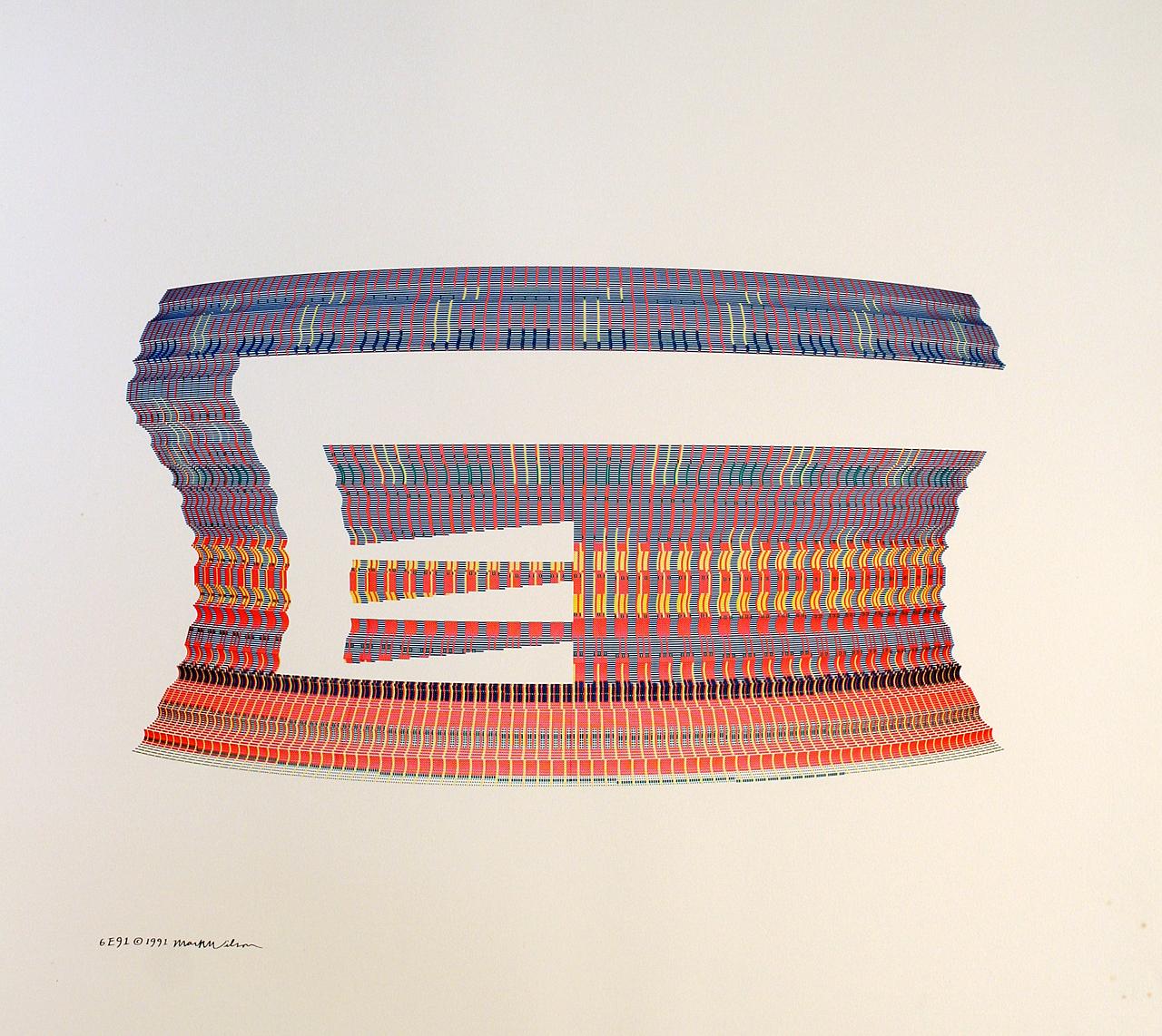 Mark Wilson, 6E91, Plotterzeichnung, 90 x 90 cm, 1991