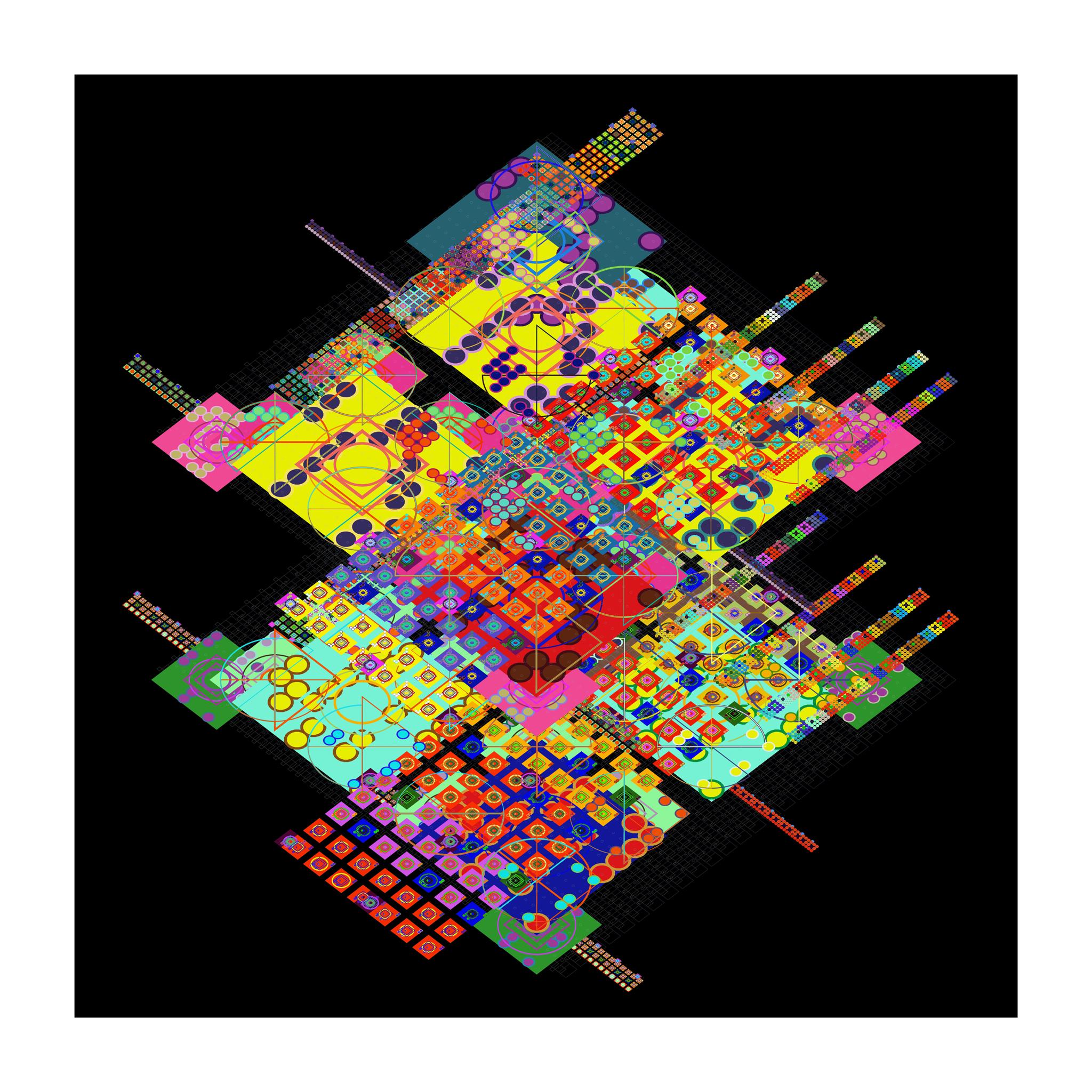 Mark Wilson, e16005, Archival Ink Jet Print auf Leinwand, 100 x 100 cm, 2011