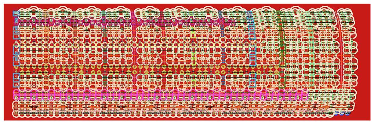Mark Wilson, csq2280, Archival Ink Jet Print, 61 x 183 cm, 2007