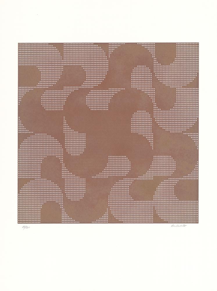 """Manuel Barbadillo, Ohne Titel, aus der Mappe """"Art Ex Machina"""", Siebdruck, 50 cm x 38 cm, Nr. 113/200, 1972"""