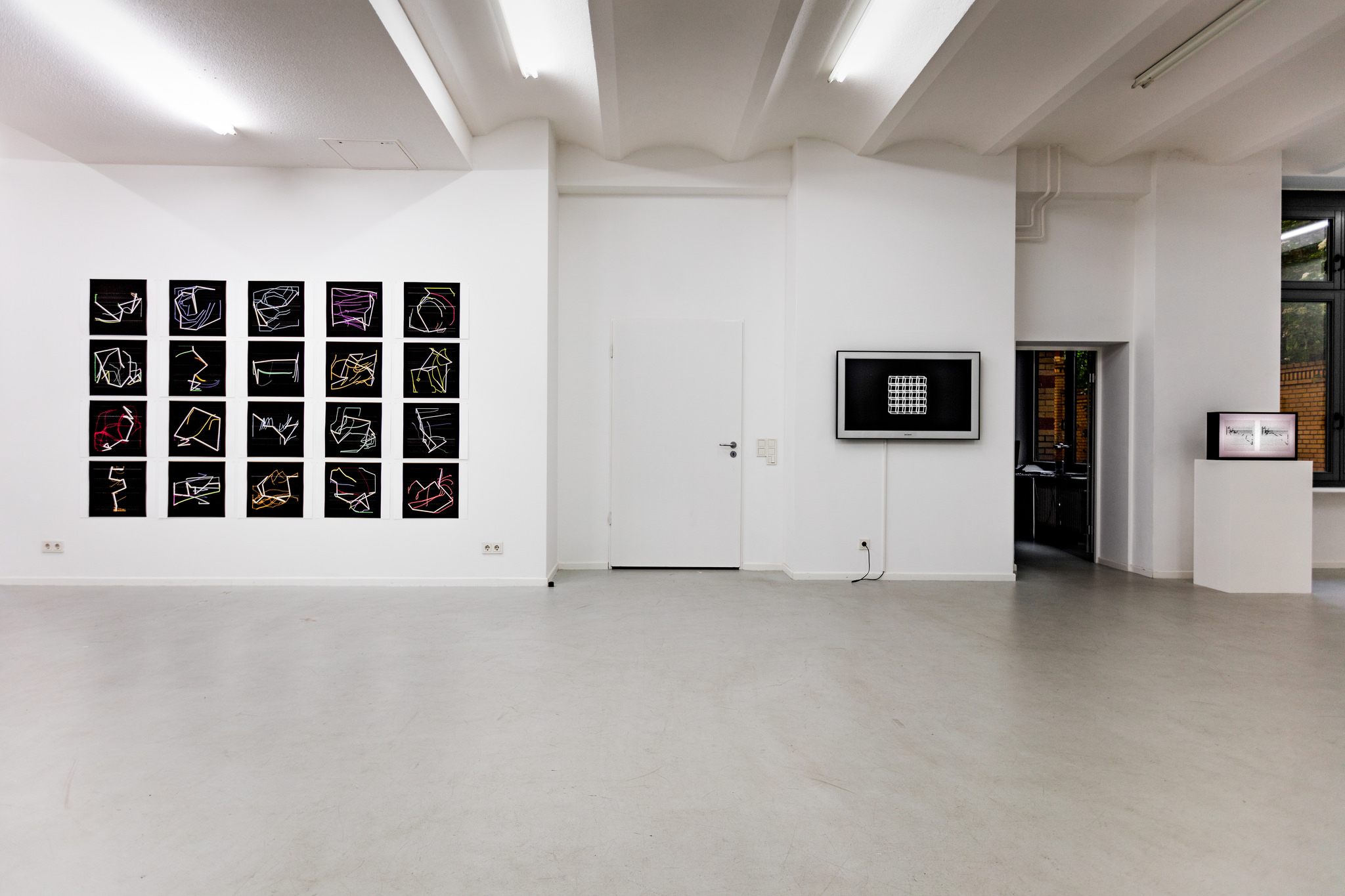 Manfred Mohr, Visuell, Musikalisch, 2016, installation view