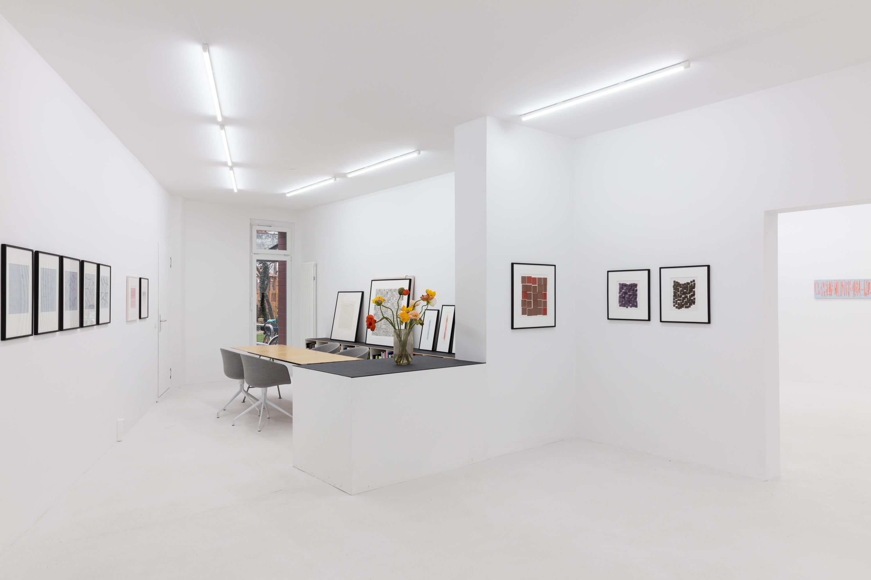 Vera Molnar, Spielerisch, Minimal, 2017, Ausstellungsansicht