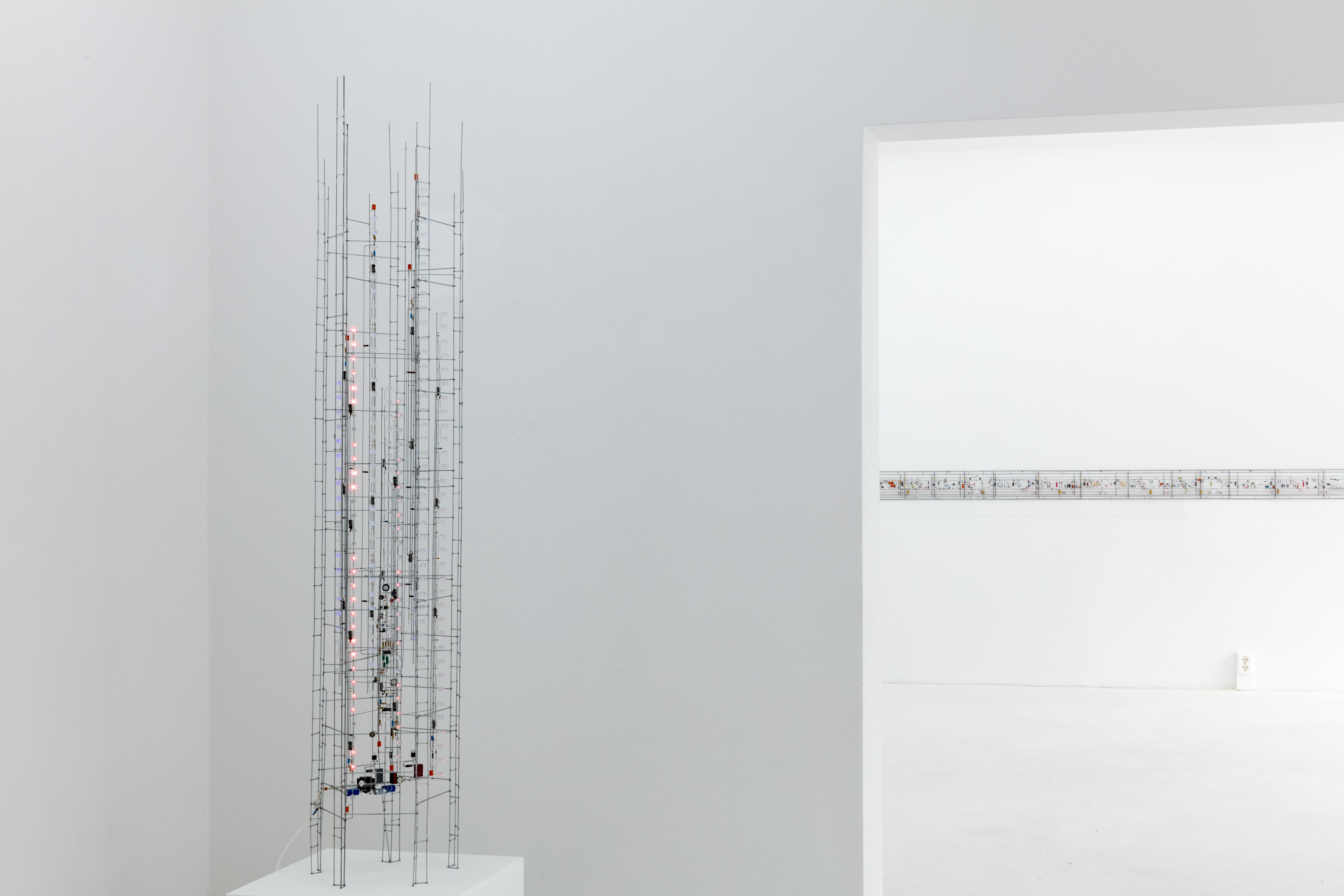 Peter Vogel, Gestalten + Zufall, installation view, 2018