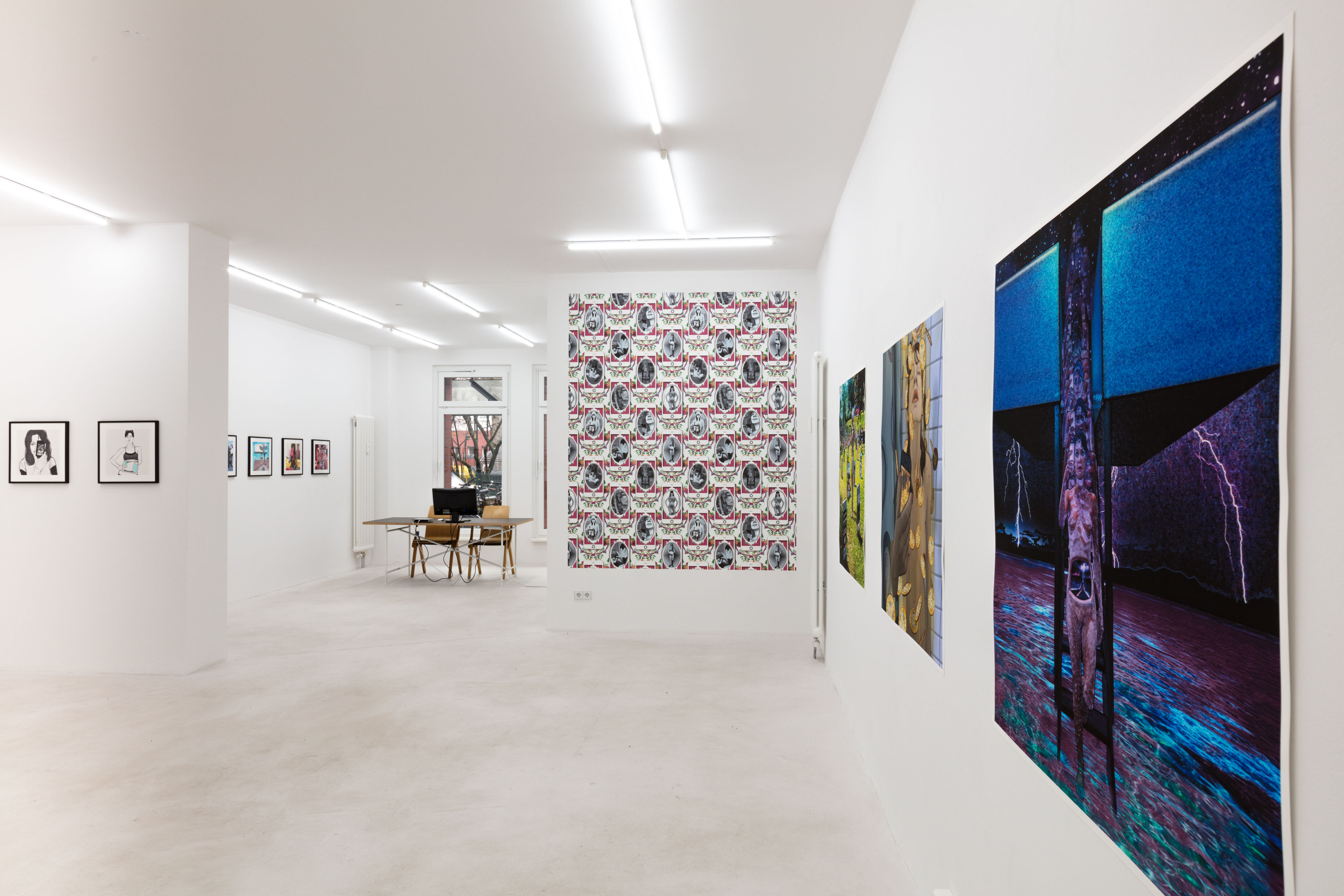 Carla Gannis, Until the End of the World, installation view, 2017