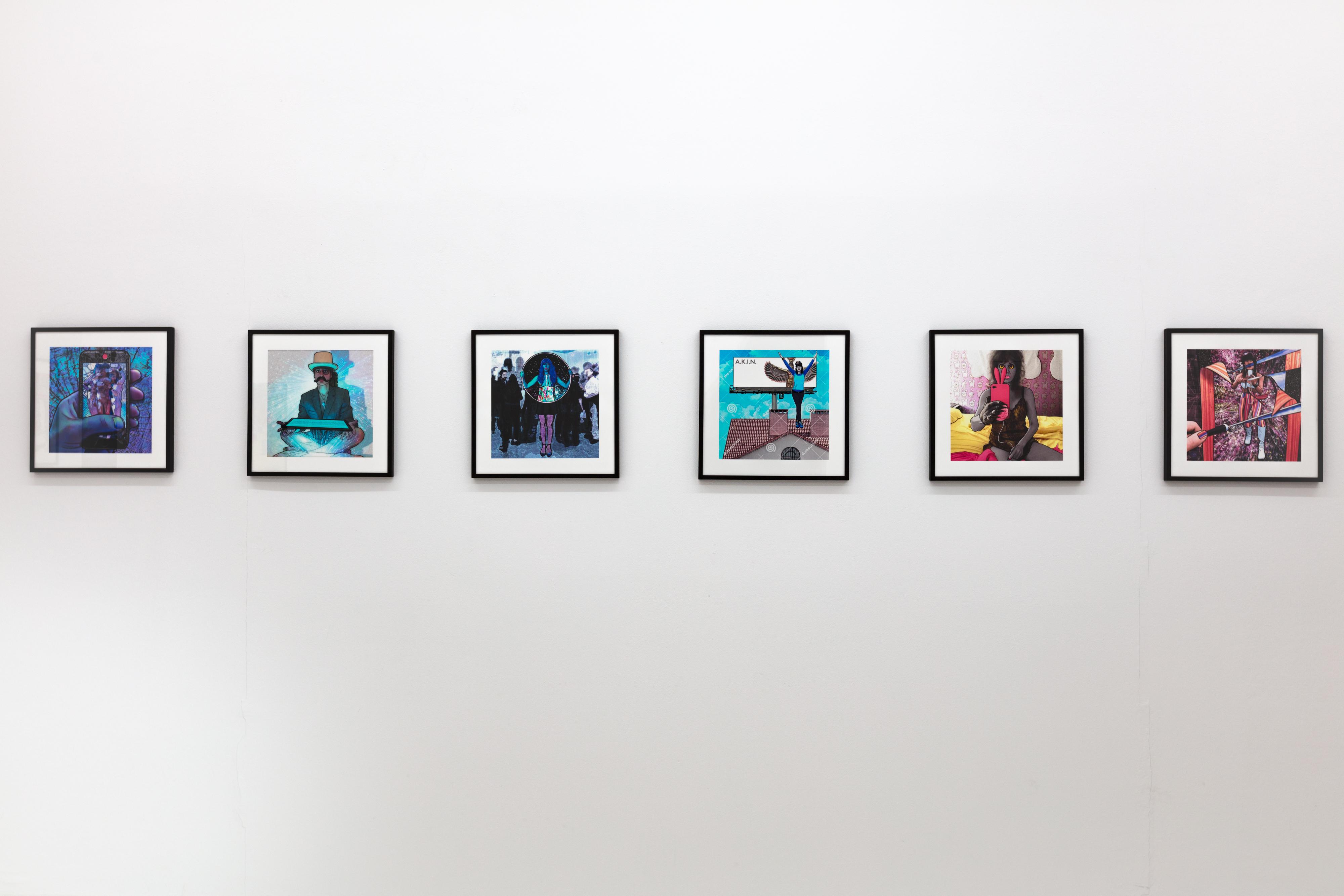 Carla Gannis, Until the End of the World, Ausstellungsansicht, 2017