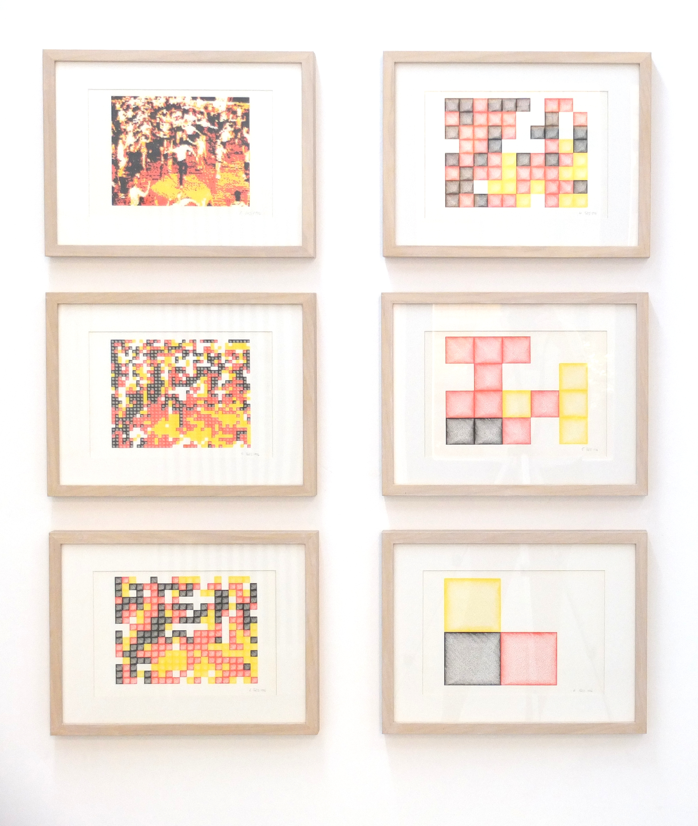Brian Reffin Smith, From West to East, 6 plotter drawings, 21 cm x 30 cm each, 1988
