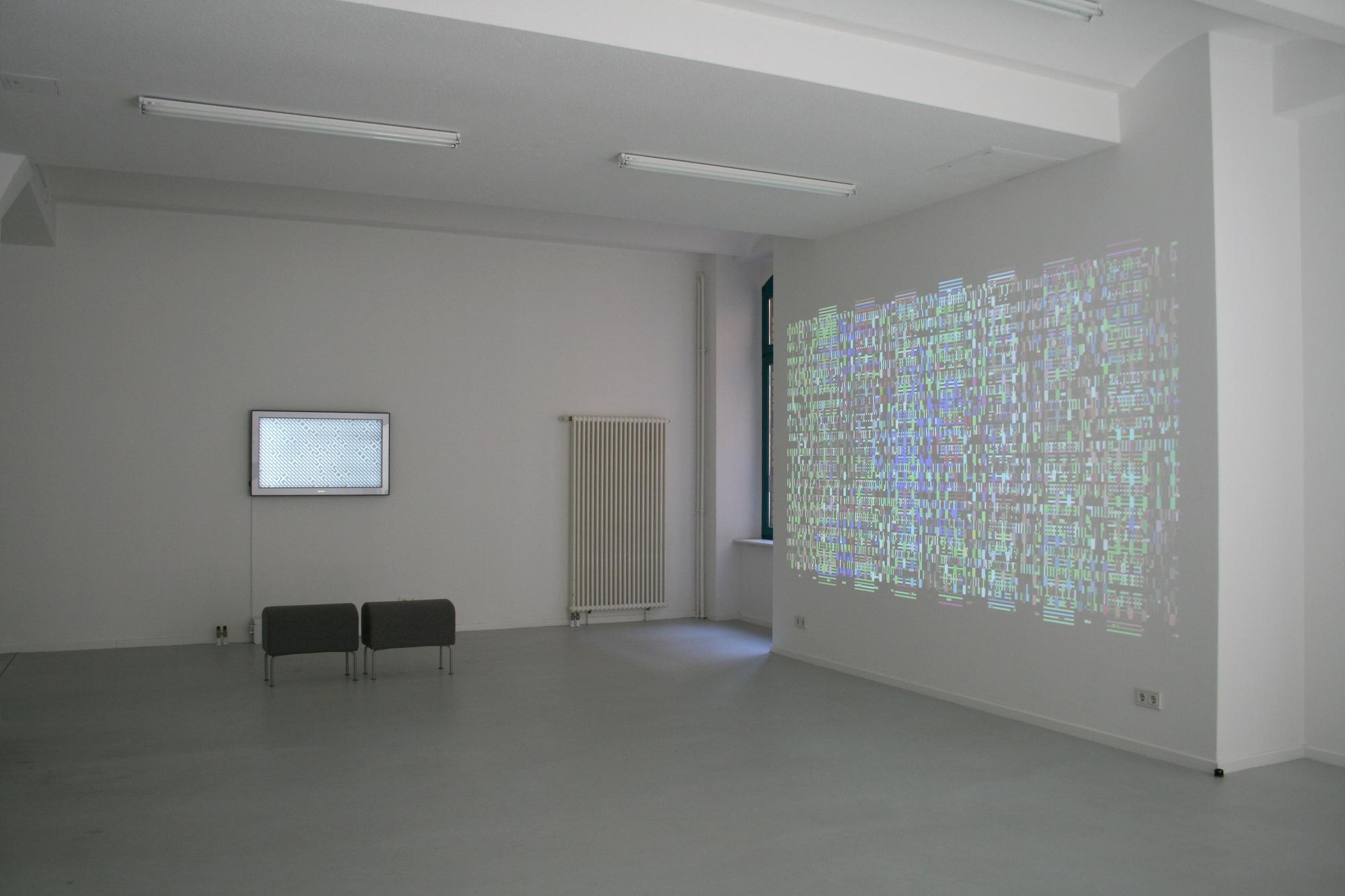 Casey Reas, Century, 2012, Ausstellungsansicht