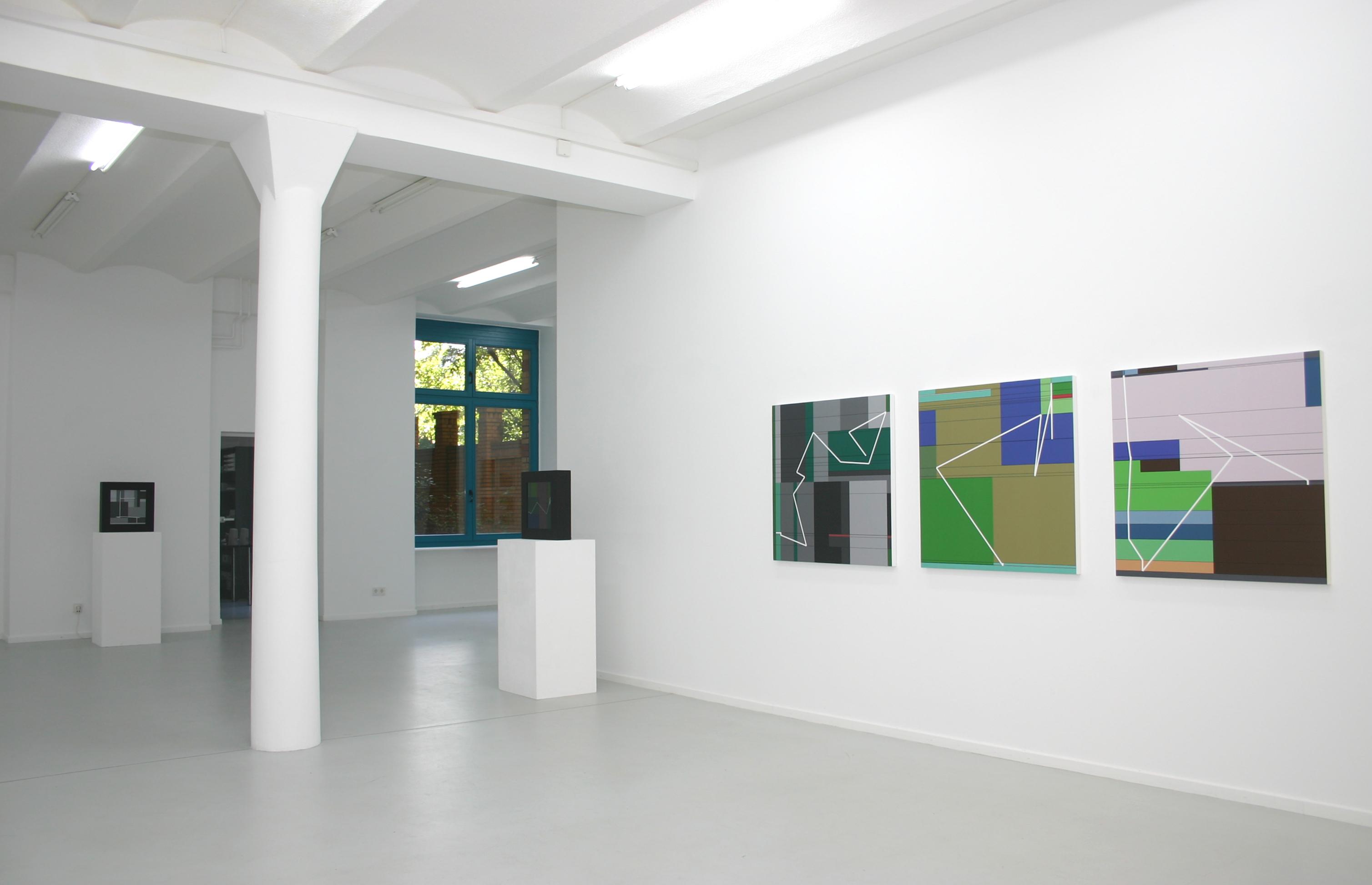 Manfred Mohr, Artificiata II, 2013, Ausstellungsansicht