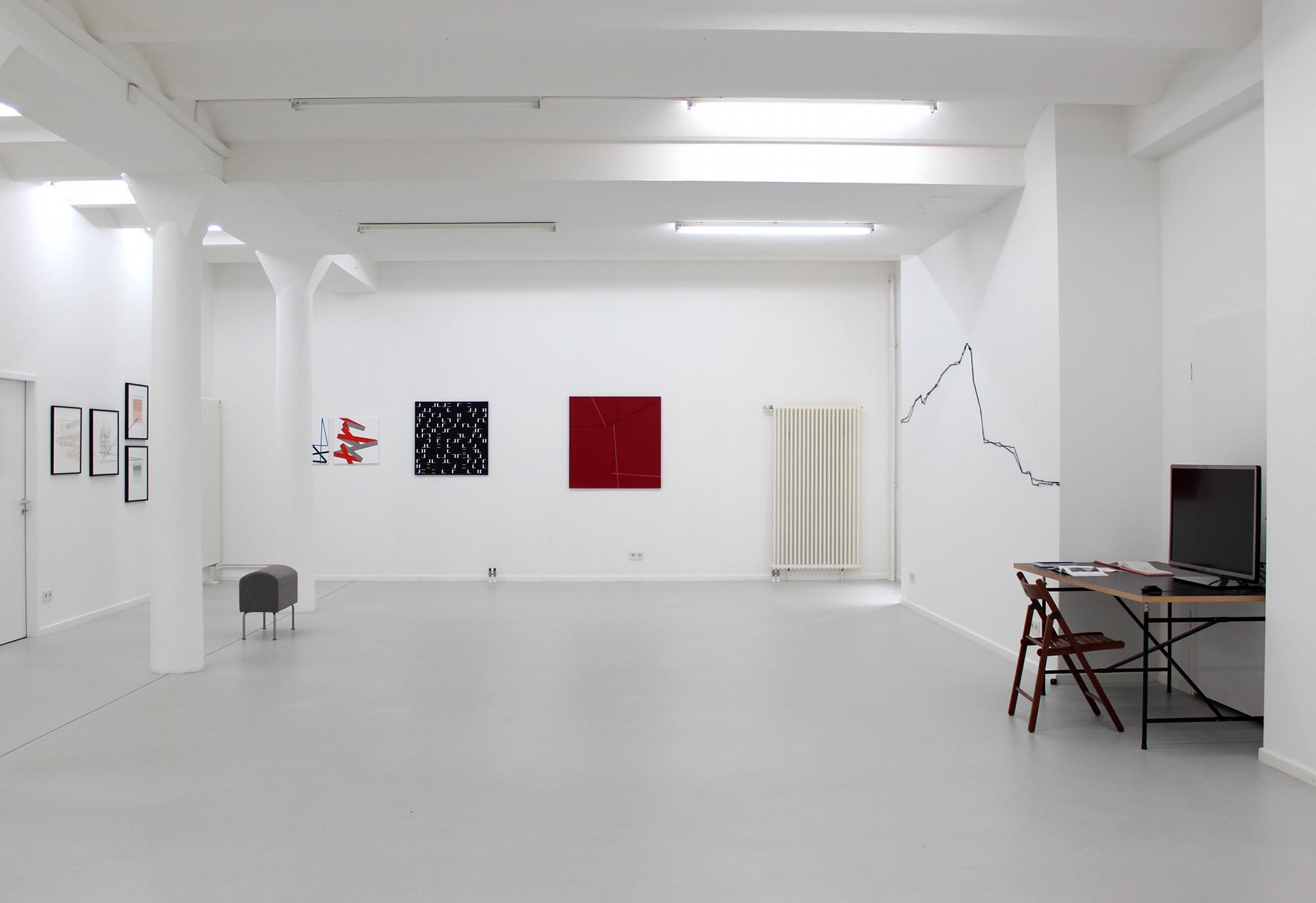 Vera Molnar, Solo, 2014, Ausstellungsansicht
