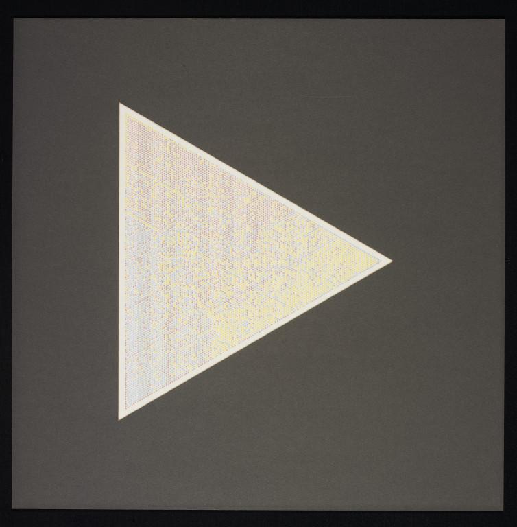 Tony Longson, Triangular Tonal Drawing, screen print on drafting film, 55 cm x 55 cm, 1980, Price: 2 900 Euro