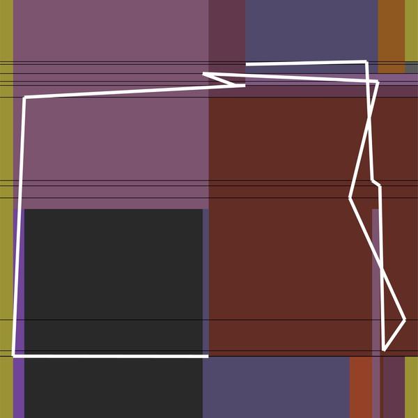 Manfred Mohr, P1612_2953, Pigment auf Papier, 42 x 42 cm, 2013