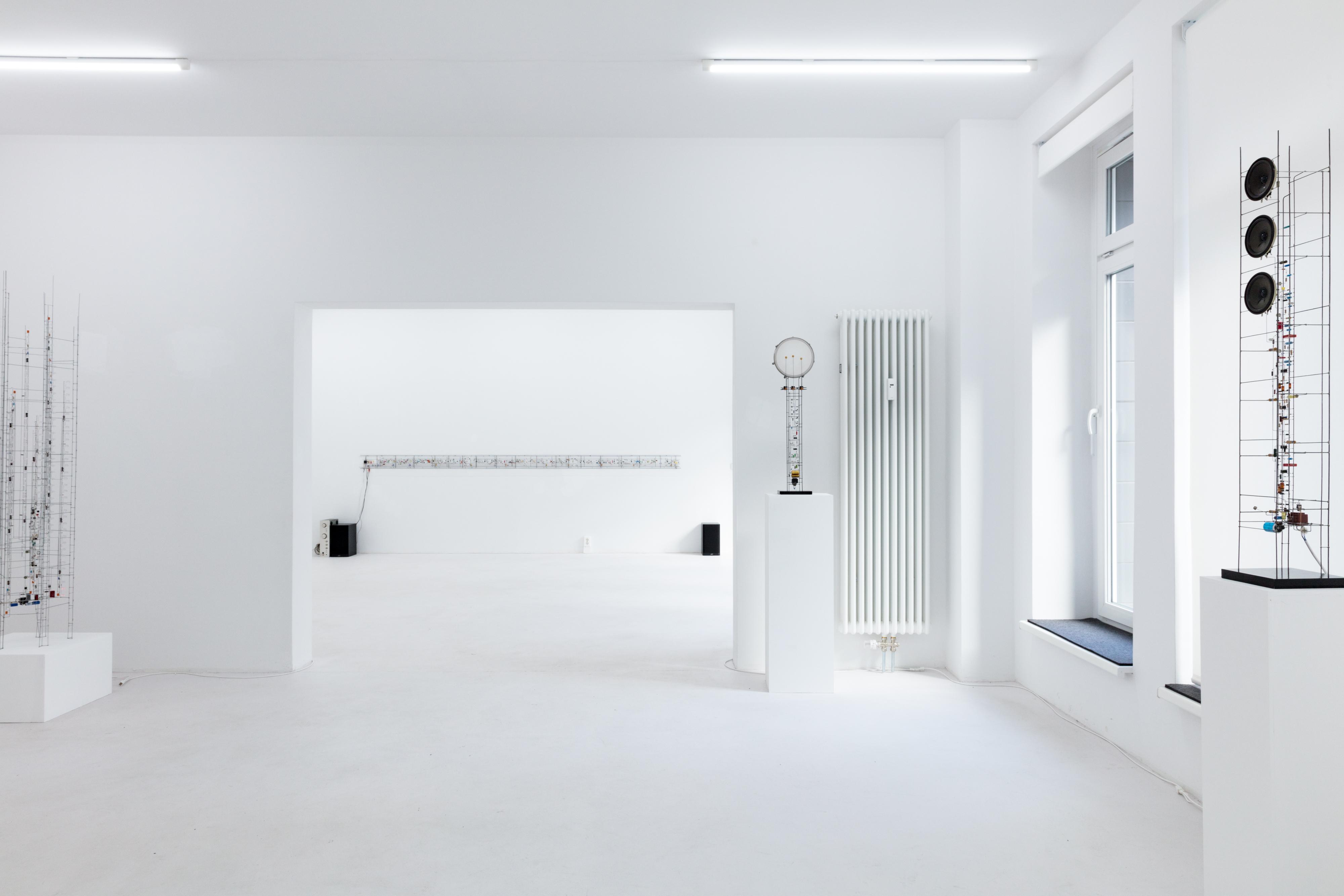 Peter Vogel, Gestalten + Zufall, Ausstellungsansicht, 2018