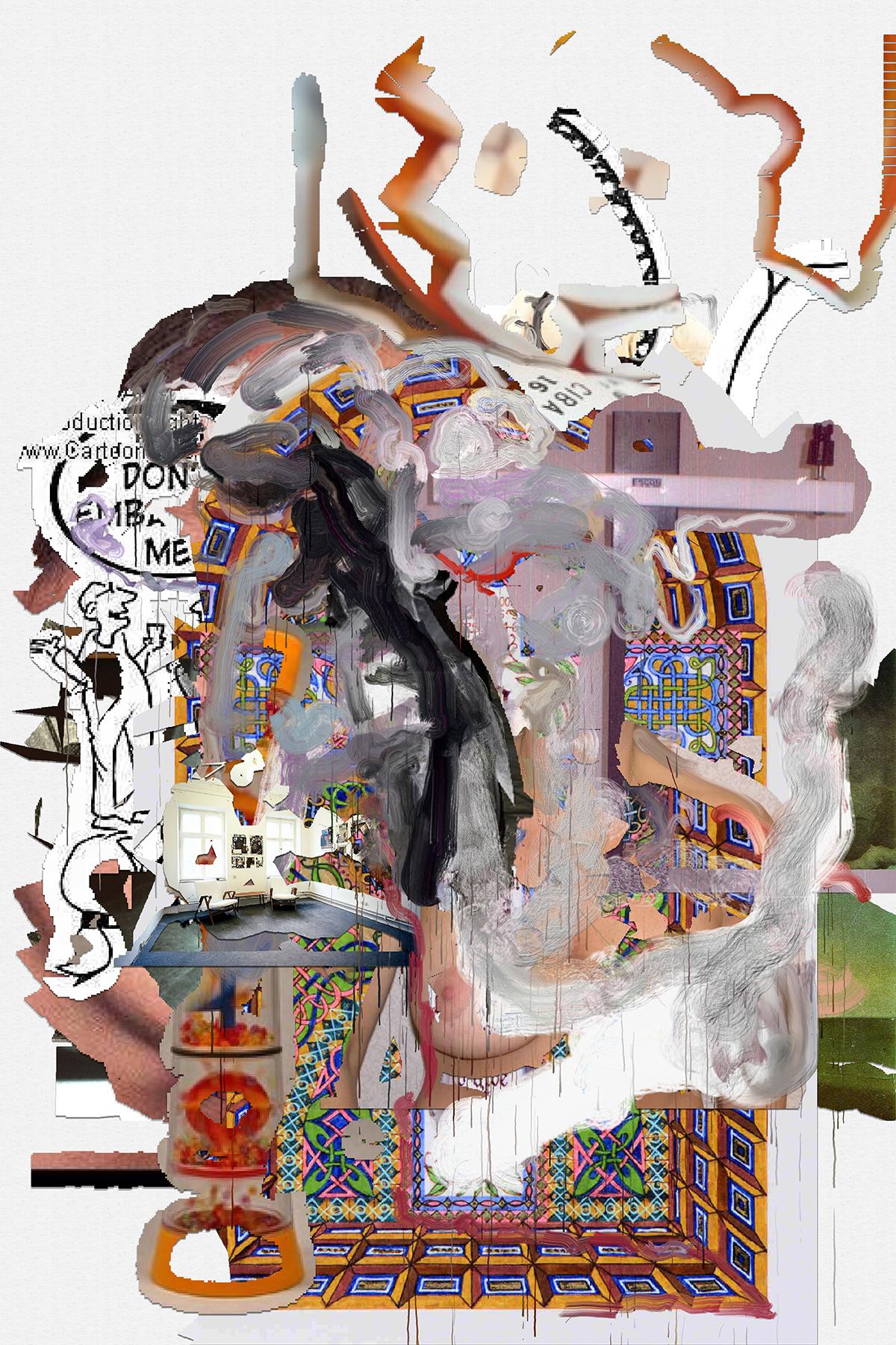 Siebren Versteeg, RustSleeping, algorithmisch generiertes Bild auf Leinwand gedruckt, Epoxydharz, 200 x 150 cm, 2017