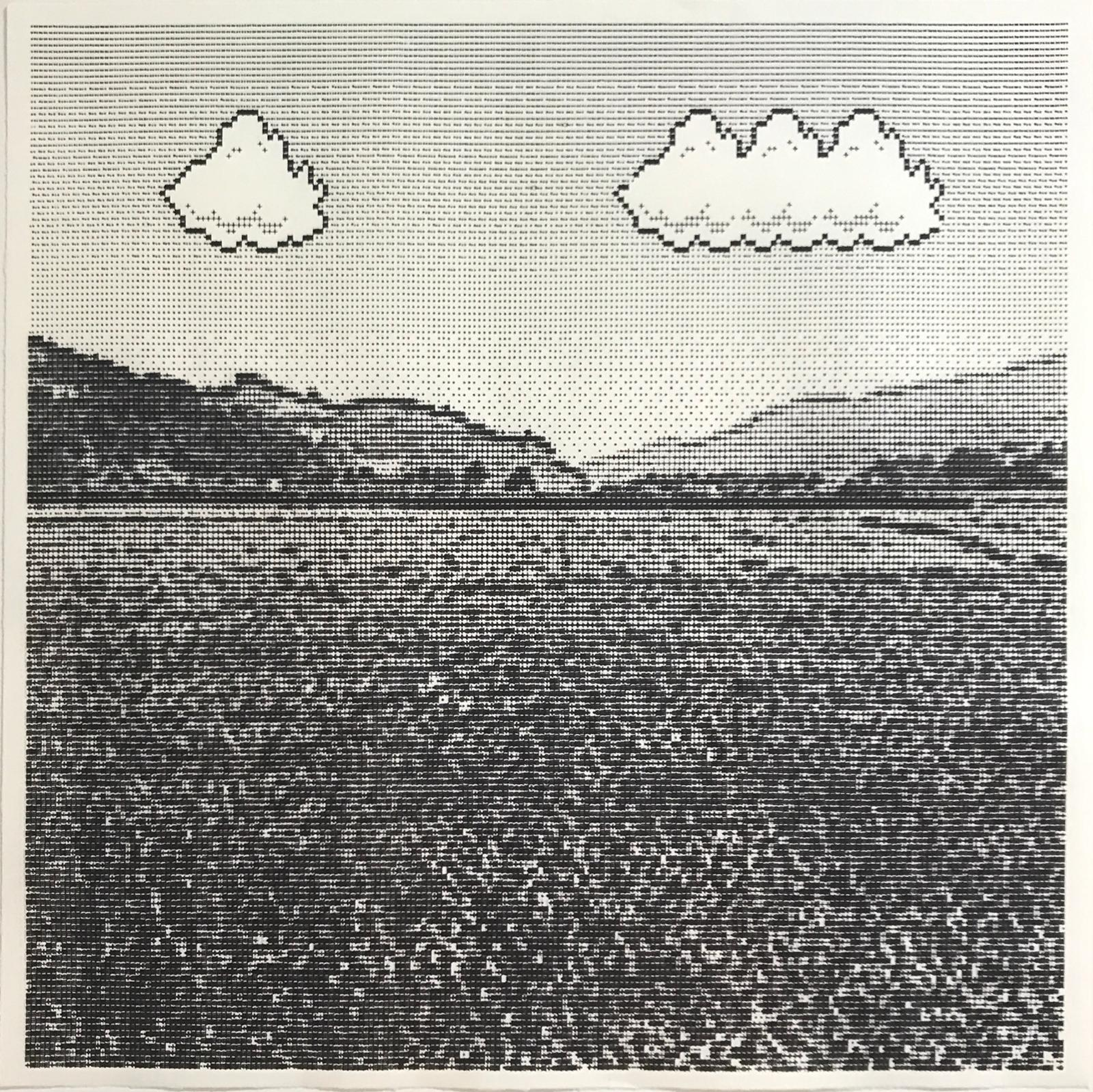 Arno Beck, 'Untitled', typewriter-drawing on japanese paper, 45 cm x 45 cm, 2017-18