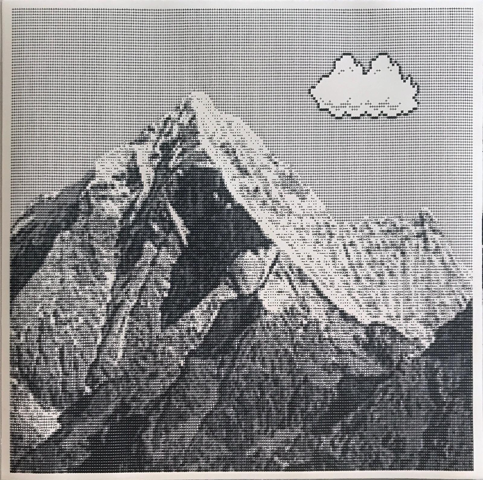 Arno Beck, 'Untitled', Schreibmaschinenzeichnung auf Japanpapier, 45 cm x 45 cm, 2017-18