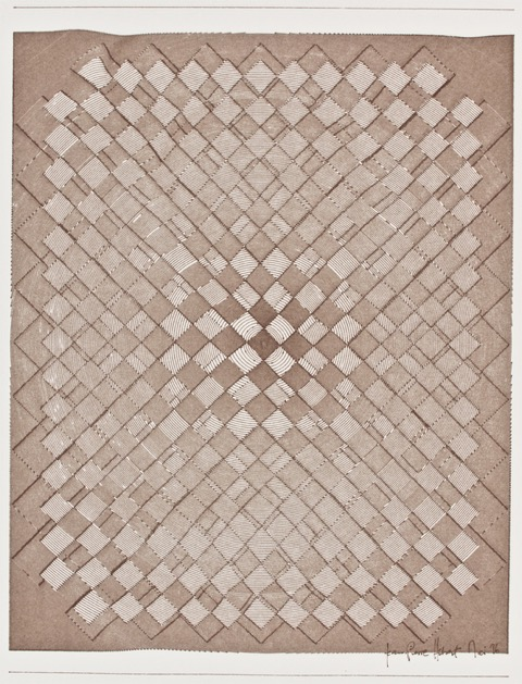 Jean-Pierre Hebért, Composition With Two Inverted Chessboards, Plotterzeichnung, 42 cm x 60 cm, 1996