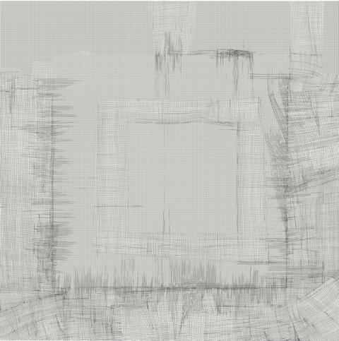 ea betrams, Grid 1-008-1, drawing, 65 cm x 65 cm, 2019