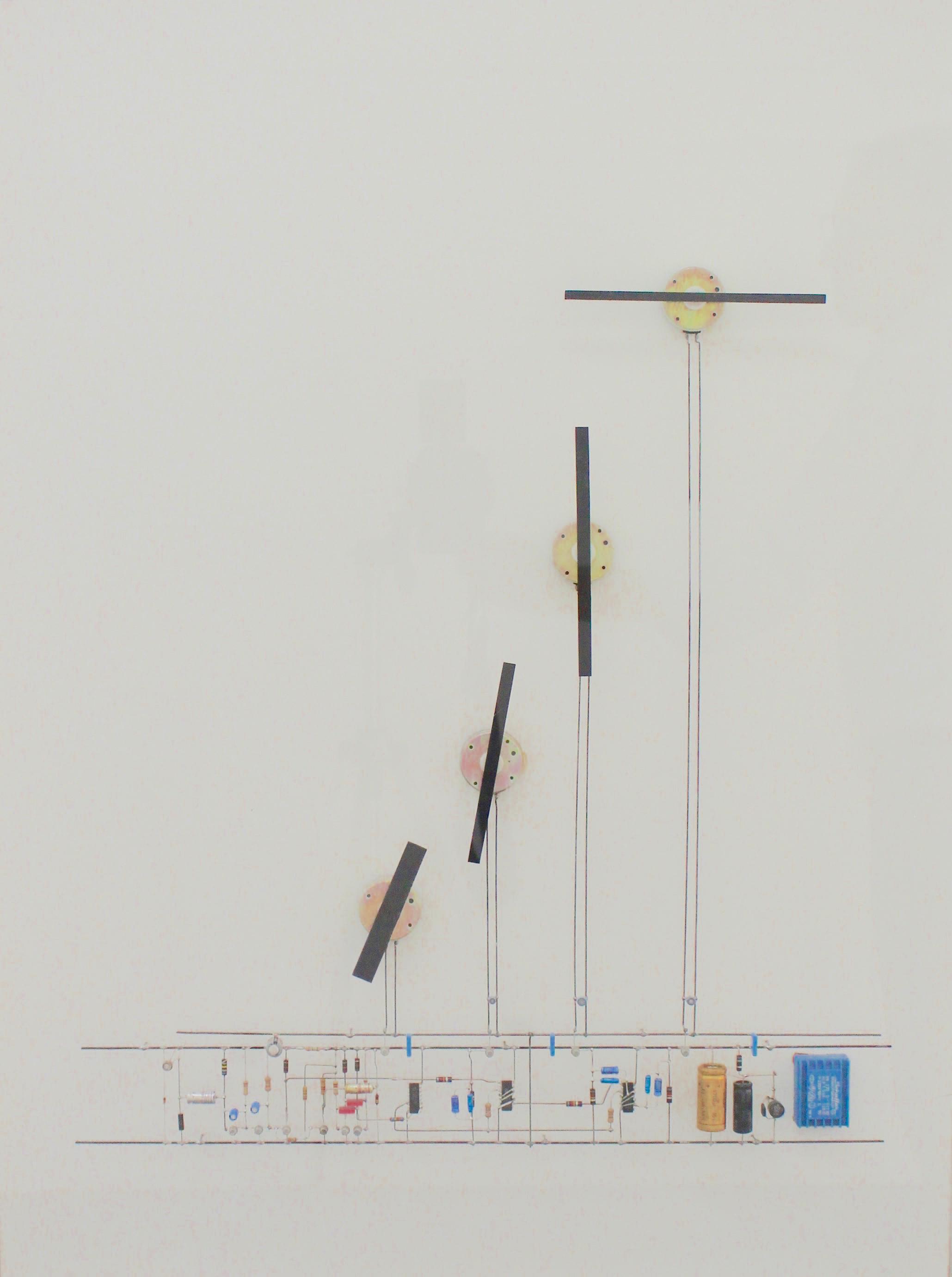 Peter Vogel, Drehflügel, mixed Media (Bewegung), 61 x 80,5 x 10,5 cm, 1998
