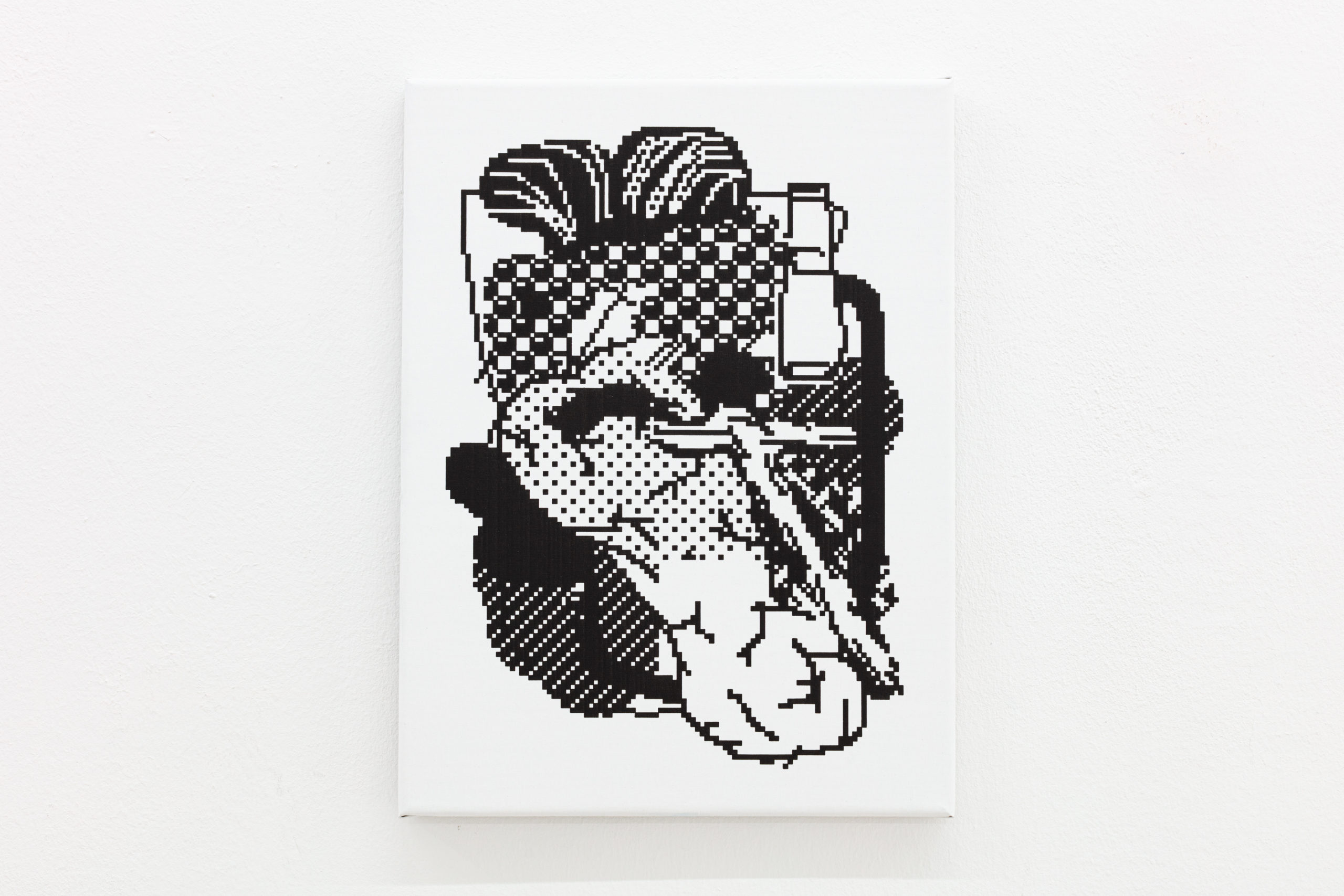 Arno Beck, Untitled, plotter drawing, ink on canvas, 30 x 40 cm, 2020