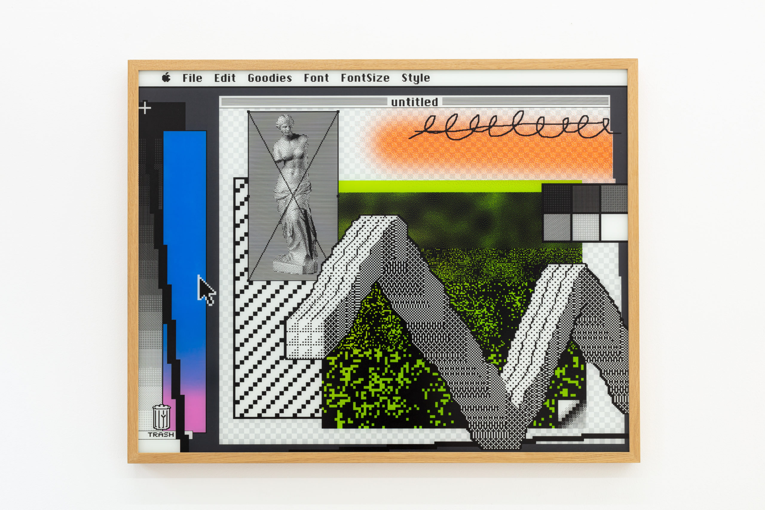 Arno Beck, Windows 1, edition of 5, screenprint on glass, 75 x 96 cm, 2016