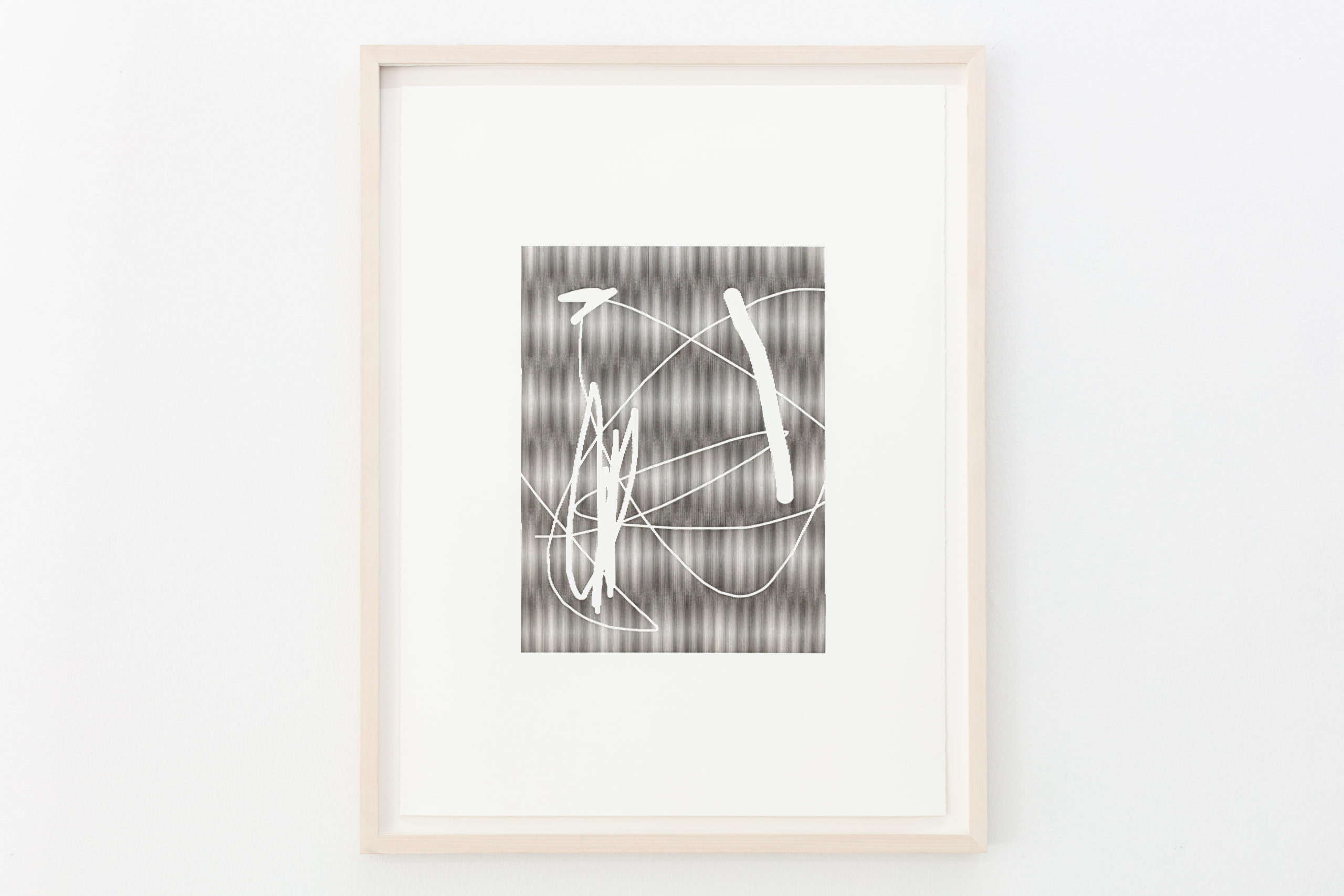 Arno Beck, Untitled, plotter drawing, ink on paper, 71 x 53 cm, 2020