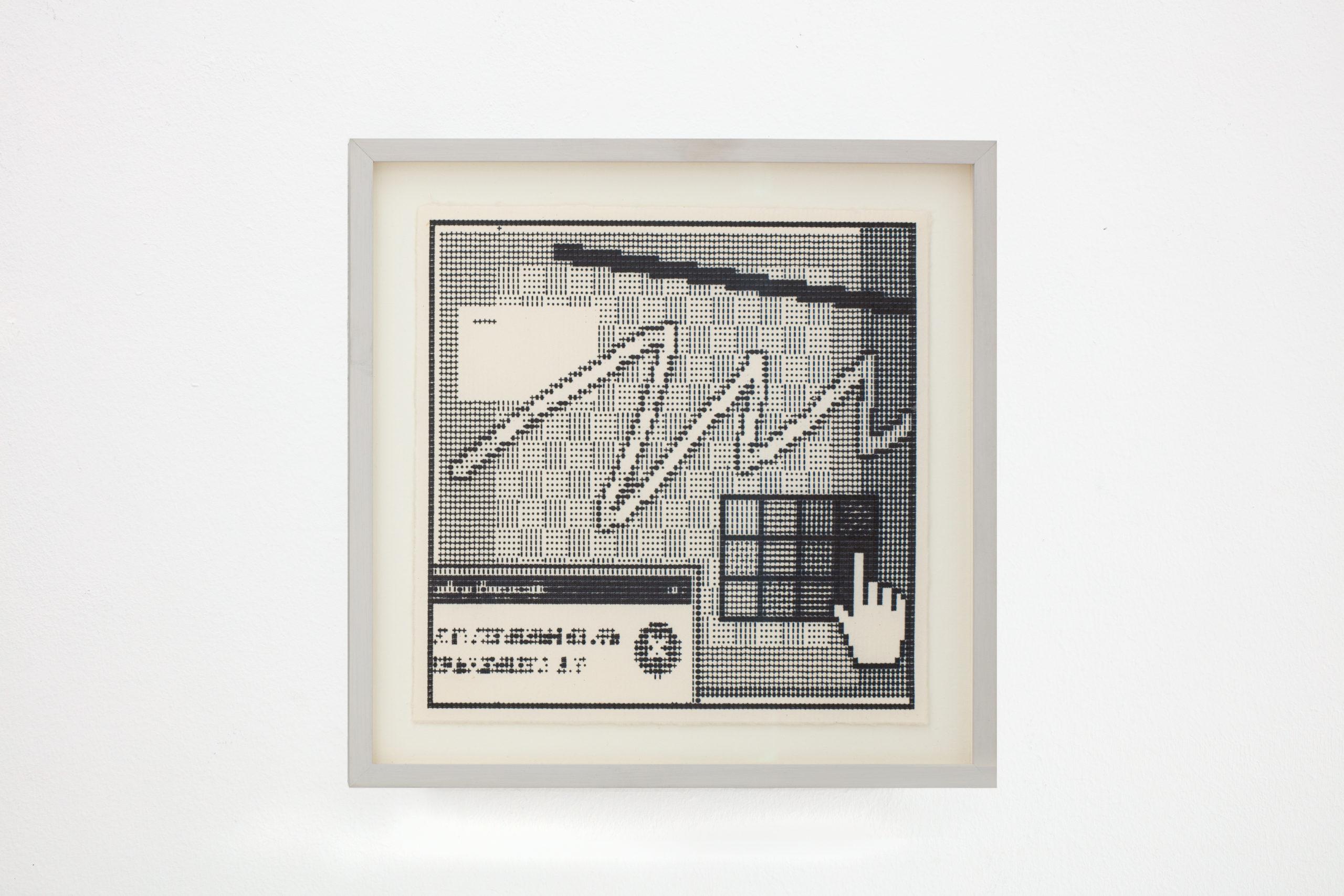 Arno Beck, Interface, typewriter drawing on Japanese paper, 22,5 x 22,5 cm, 2015