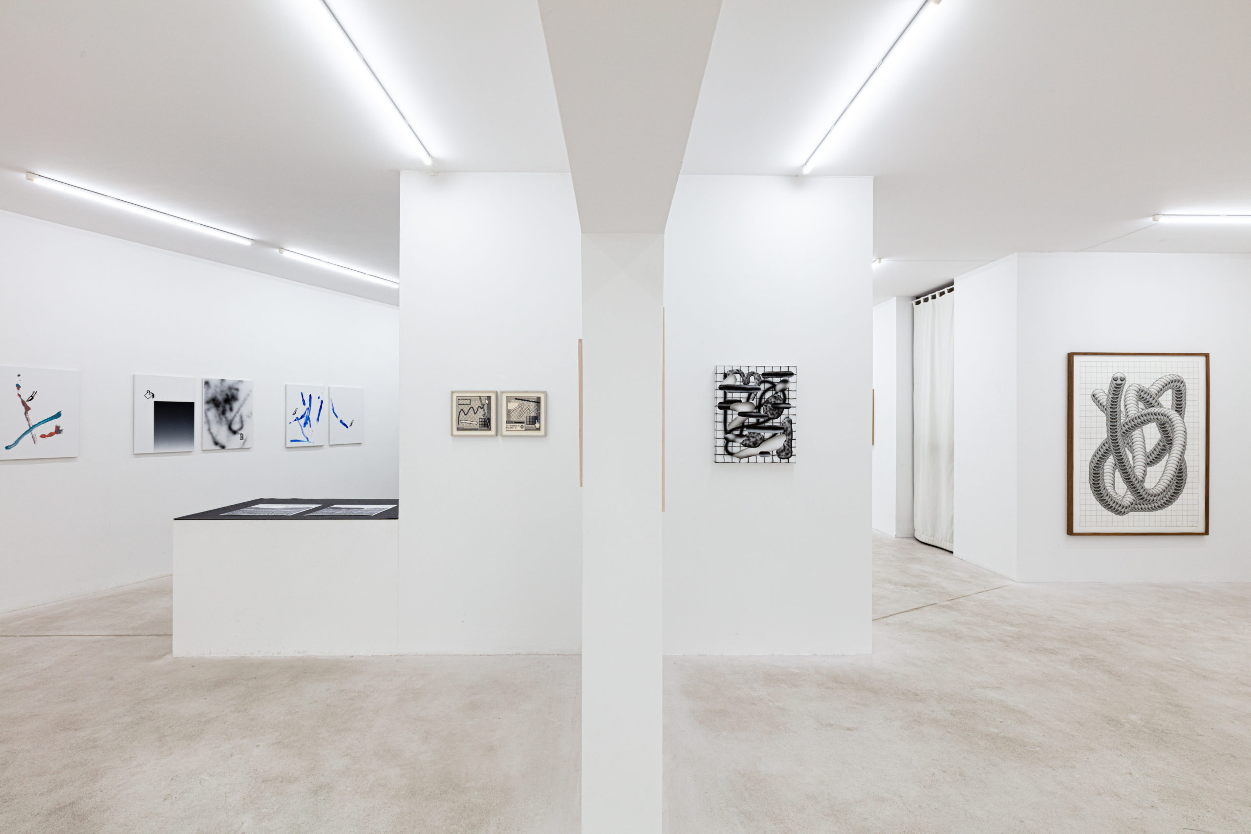 Arno Beck, dig-it-all, 2020, installation view
