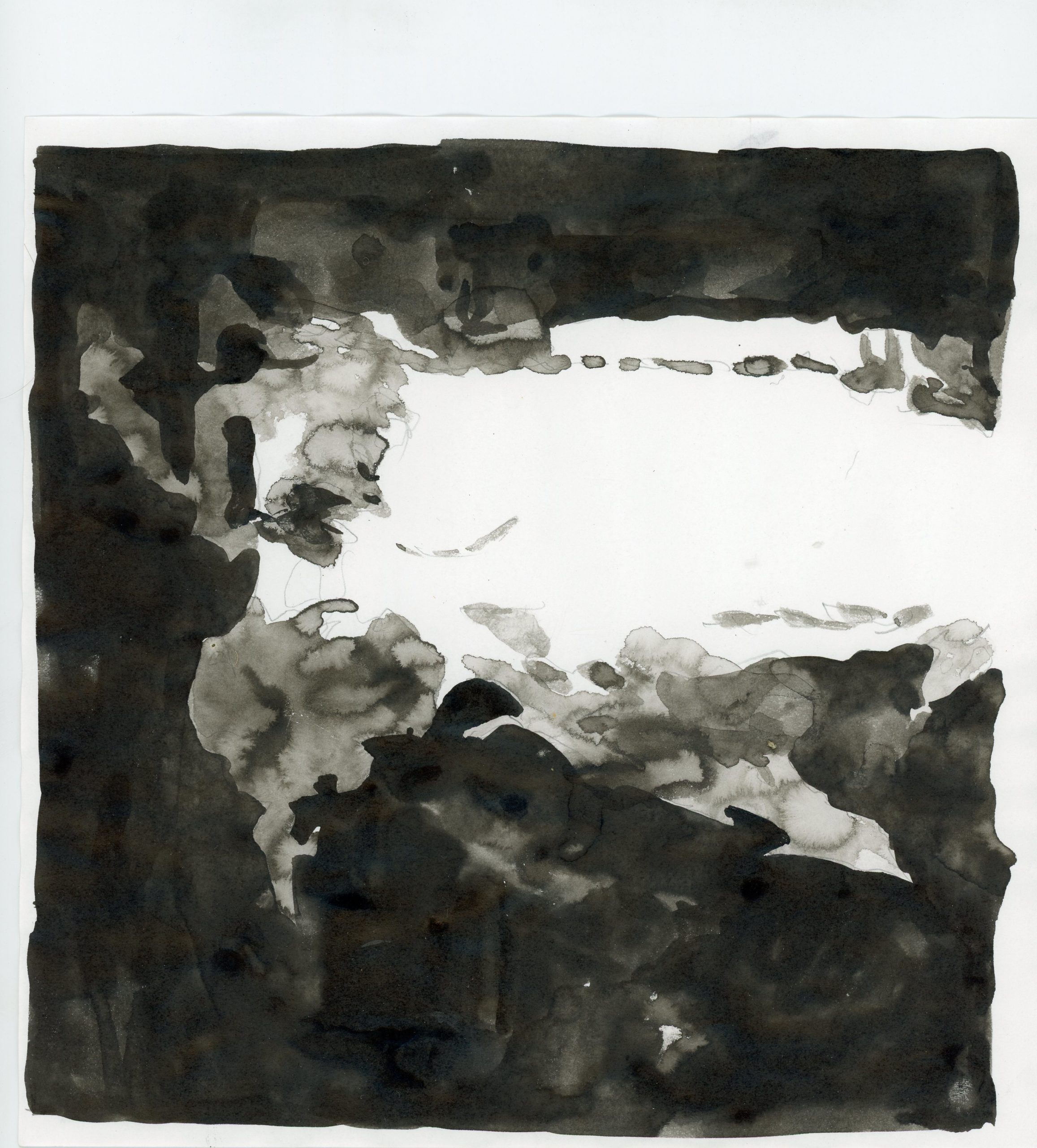 Anna Ridler, Fall of the House of Usher II, 1_11120, ink on paper, 21 x 21 cm, 2017