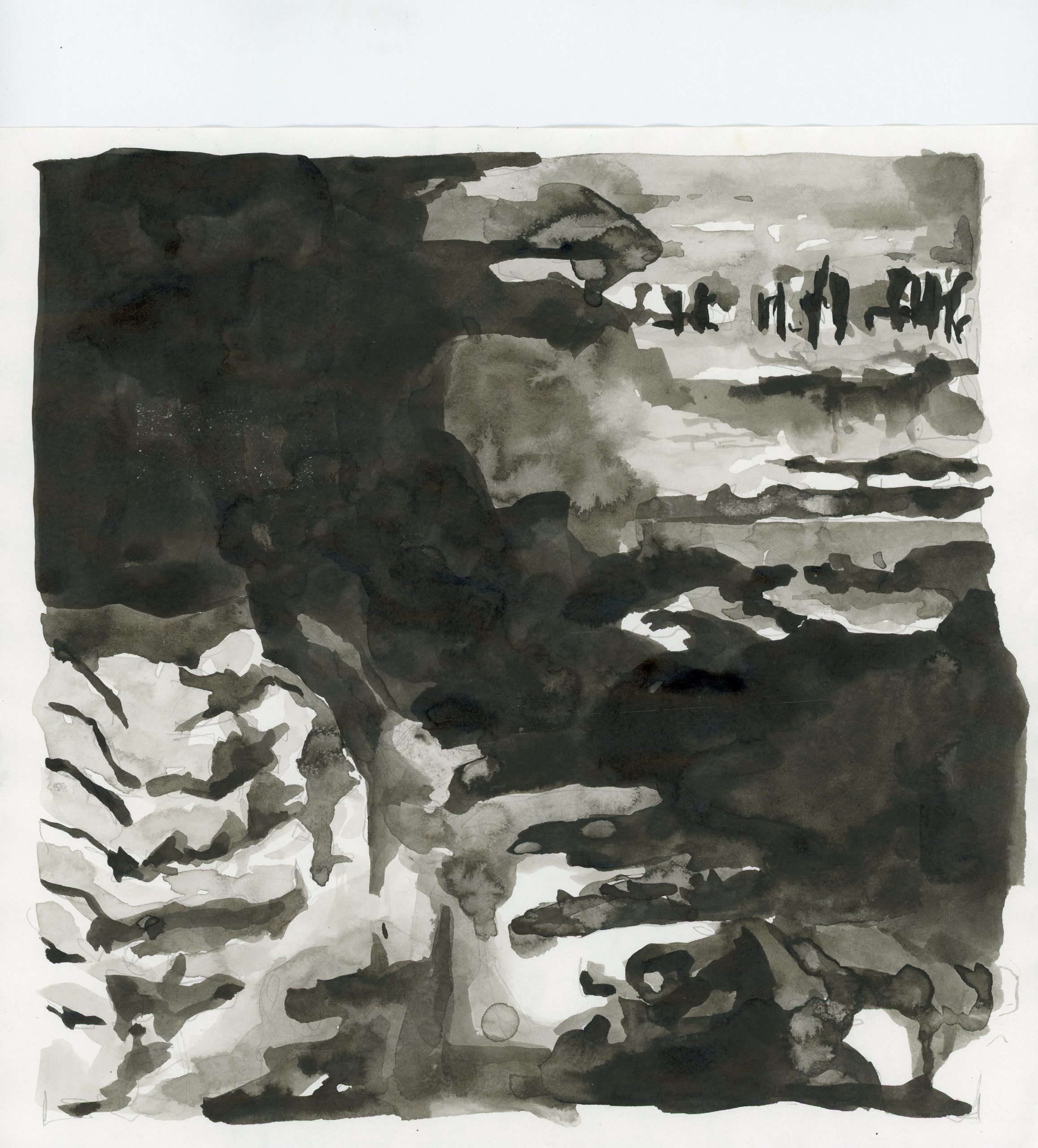 Anna Ridler, Fall of the House of Usher II, 1_613, ink on paper, 21 x 21 cm, 2017