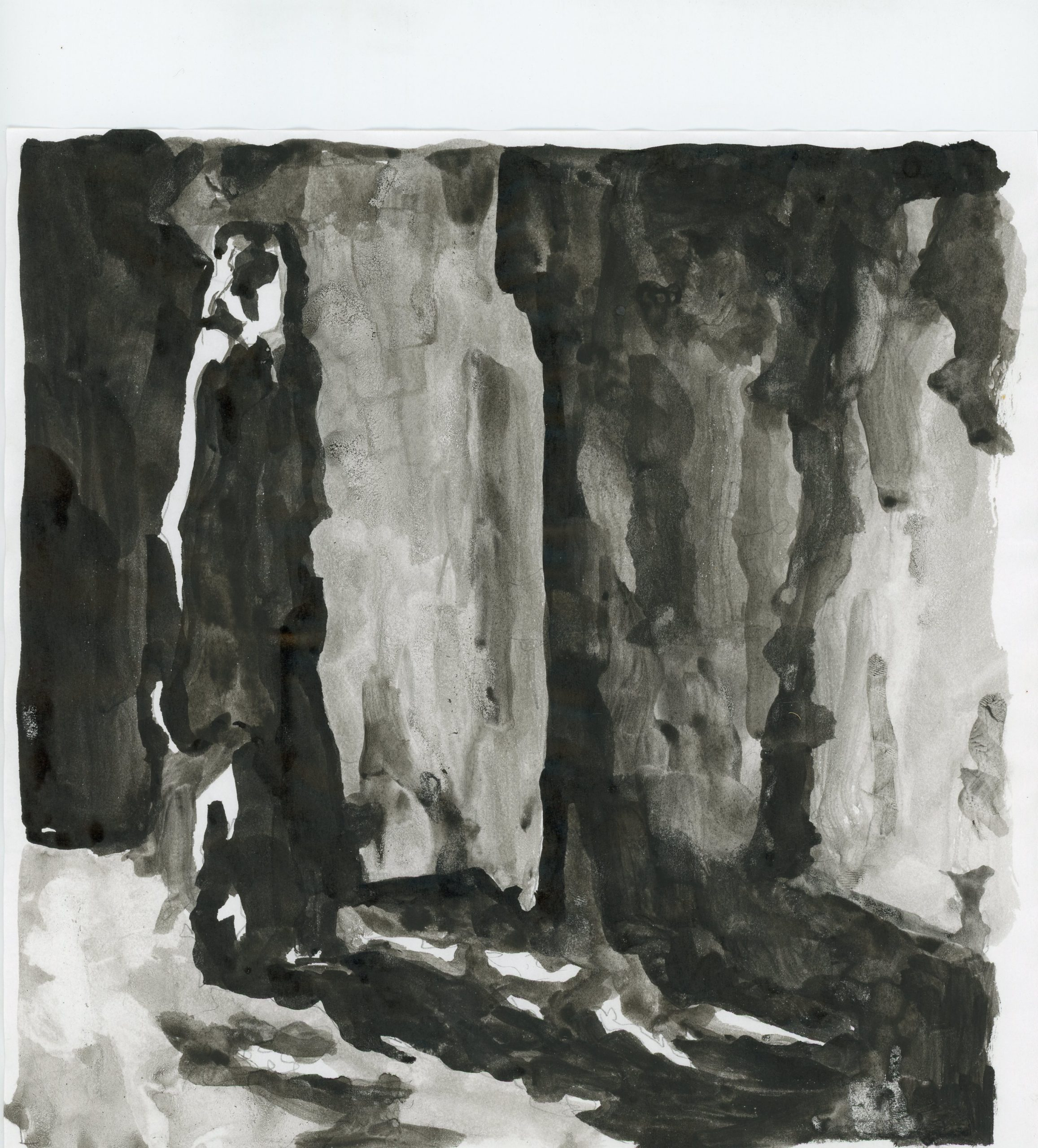 Anna Ridler, Fall of the House of Usher II, 1_7530, ink on paper, 21 x 21 cm, 2017