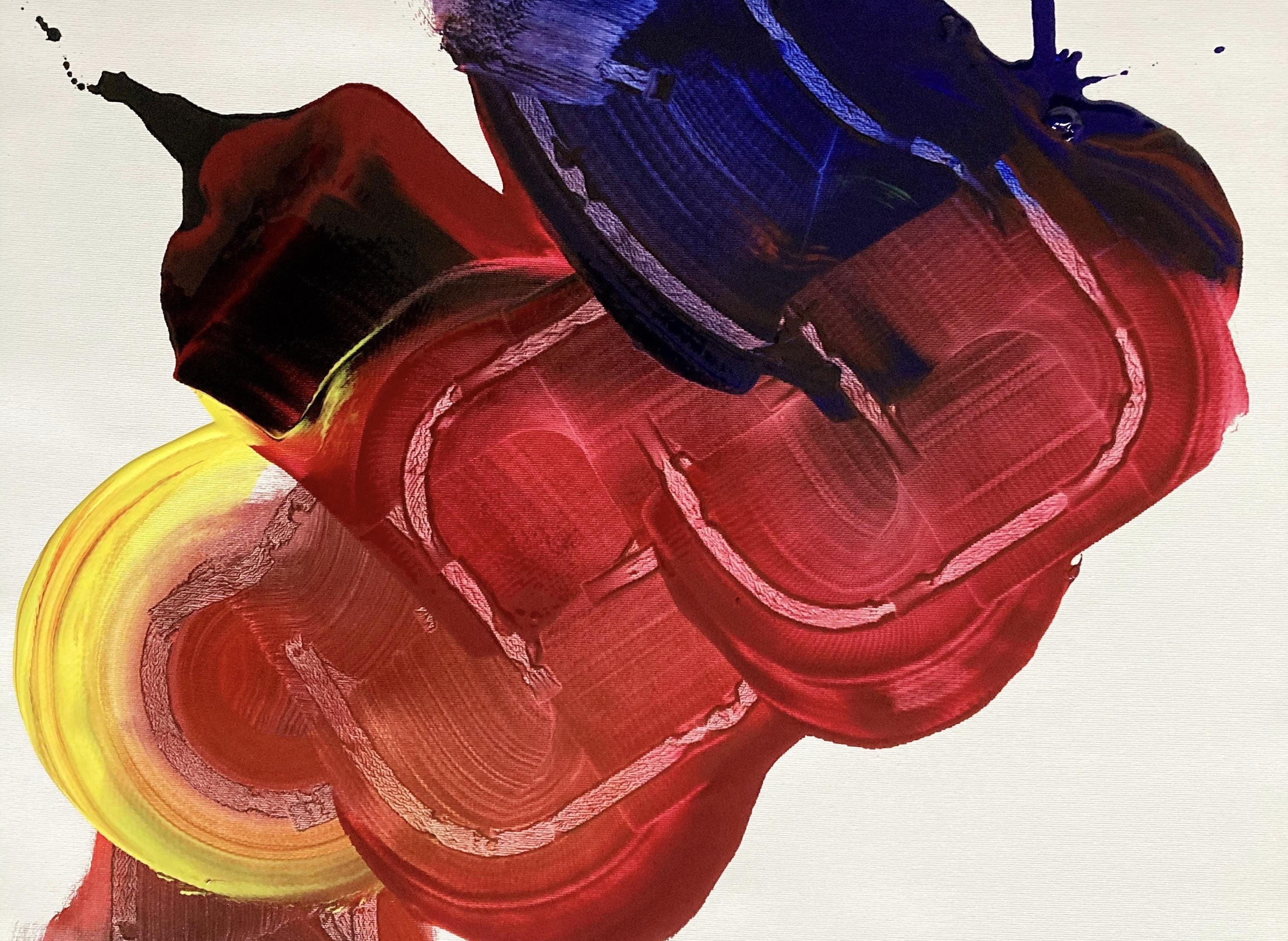 Addie Wagenknecht, Addie Wagenknecht, Self Portrait, Yves Klein Blau, CBD, Melatonin, Chanel Lippenstift Pigment mit Ölmedium auf Leinwand, 49 x 80 cm, 2020