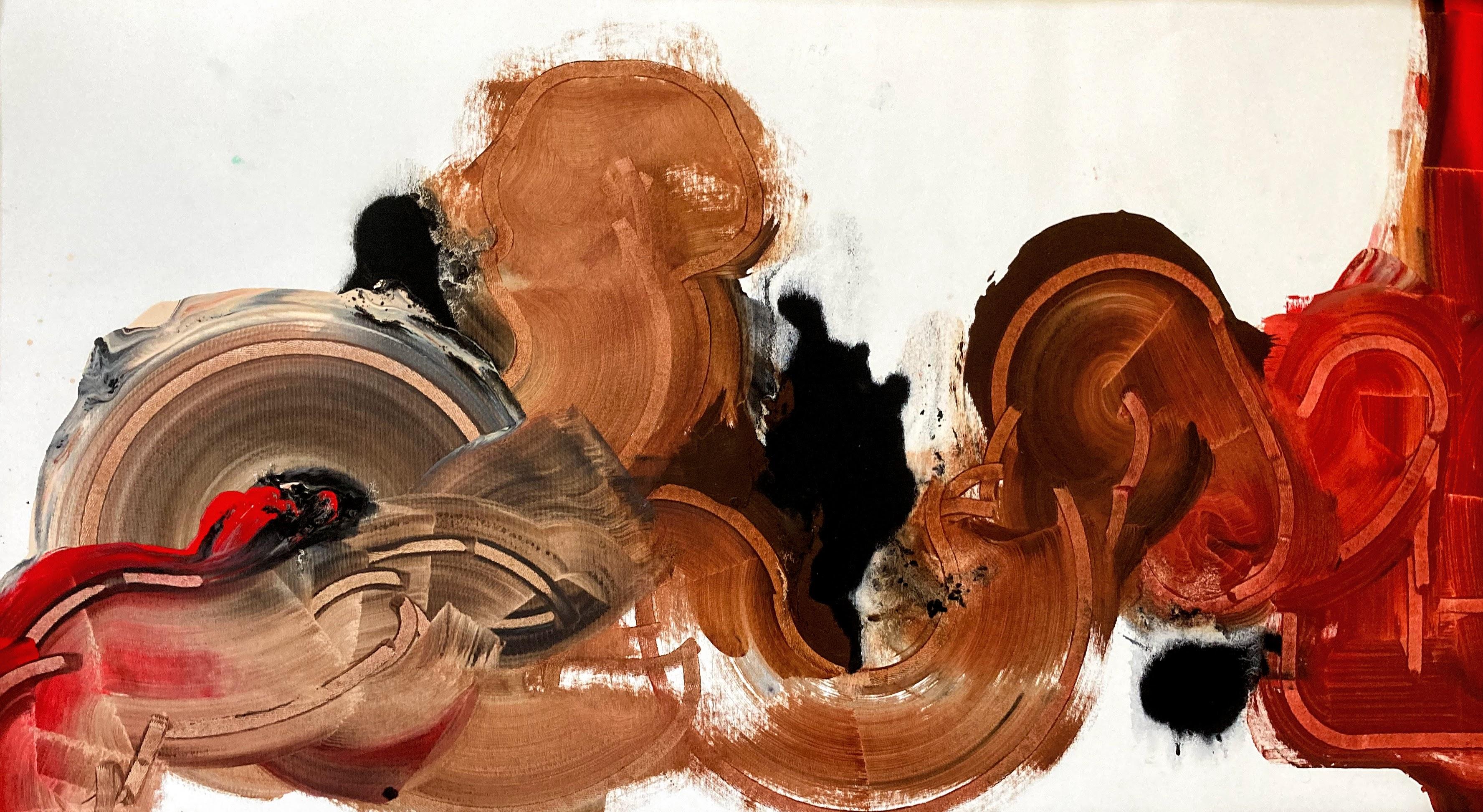 Addie Wagenknecht, Self Portrait Reclined, Kosmetik-Pigmente, Anti-Aging Gel, Chanel No 5 Perfüm, Prozac mit Ölmedium auf Leinwand, 140 x 82 cm, 2020