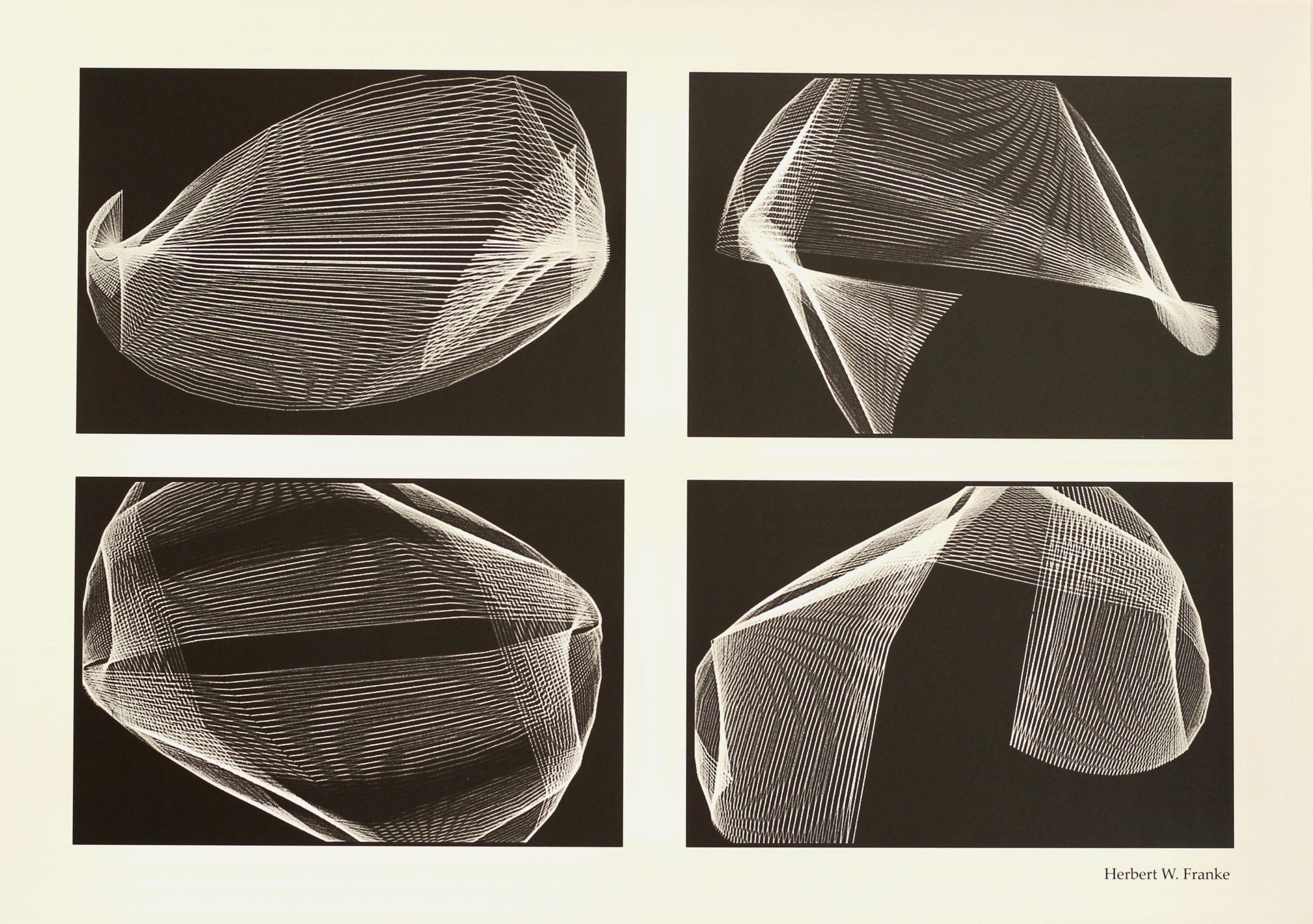 Herbert W. Franke, 4 Standbilder, Hahnemühle Kunstdruck, 29,6 x 42 cm, Auflage von 50, 1970/71