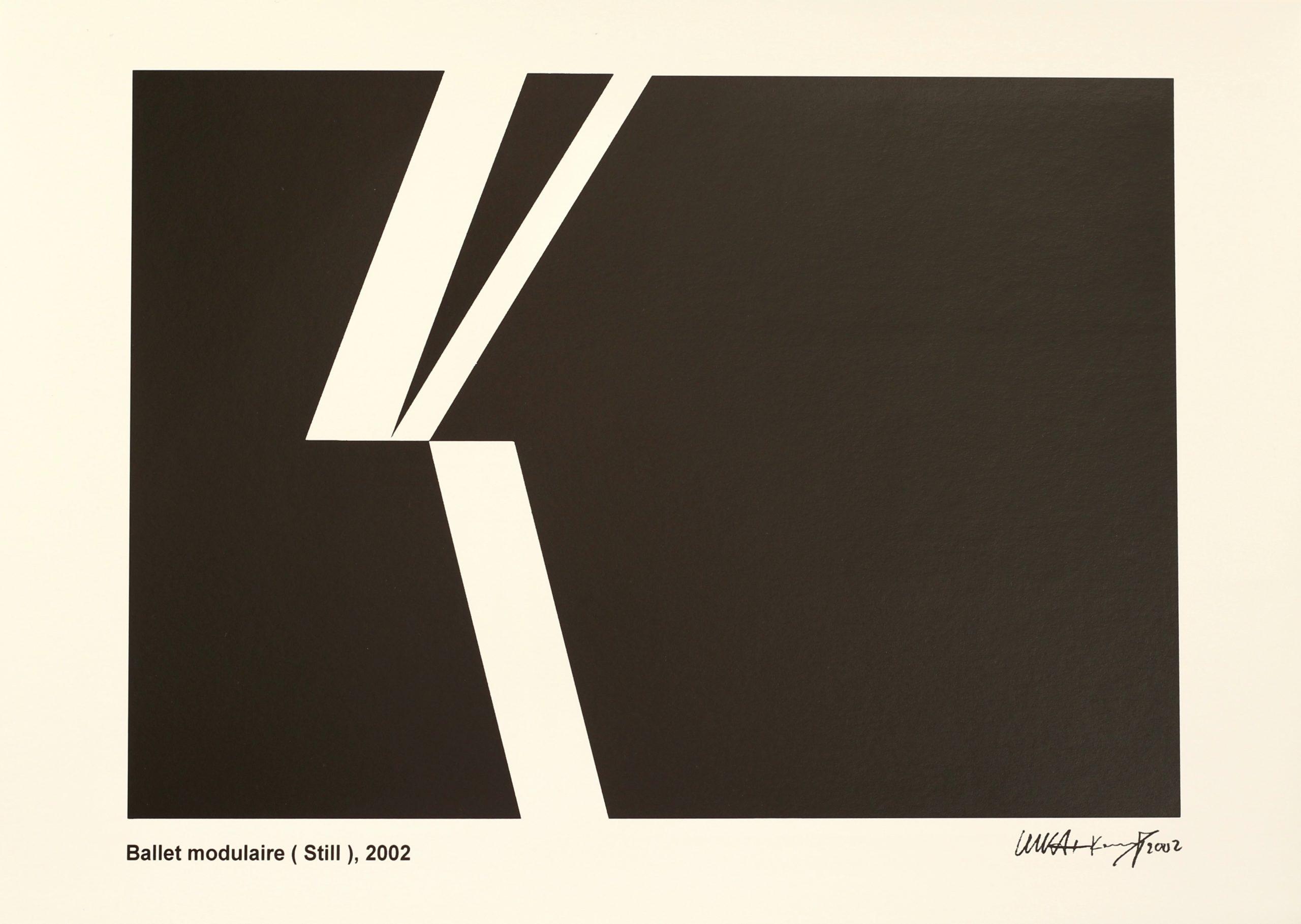 Gerhard Kammerer-Luka & Jean Baptiste Kempf, Ballet modulaire (Still), Hahnemühle Kunstdruck, 29,6 x 42 cm, Auflage von 50, 2002
