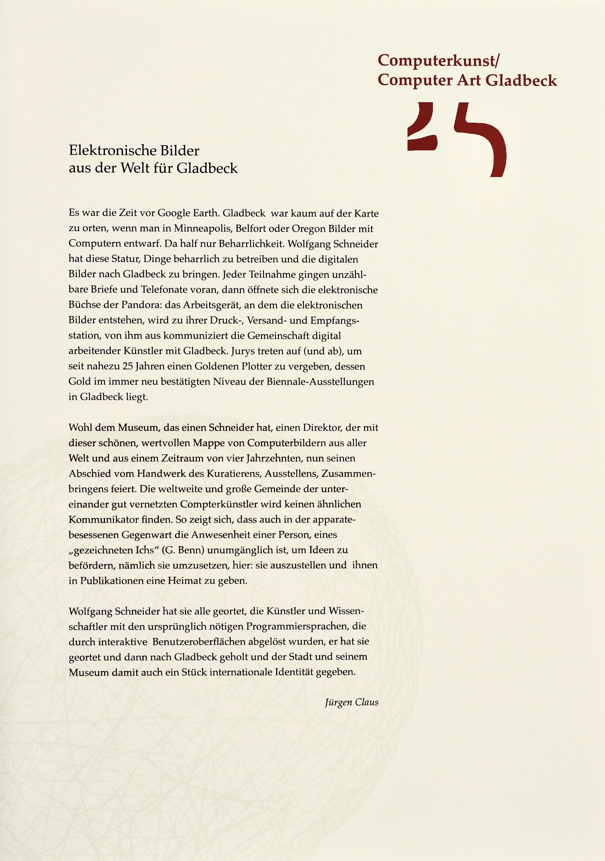 25 Years of Computer Art, Gladbeck Portfolio, Essay