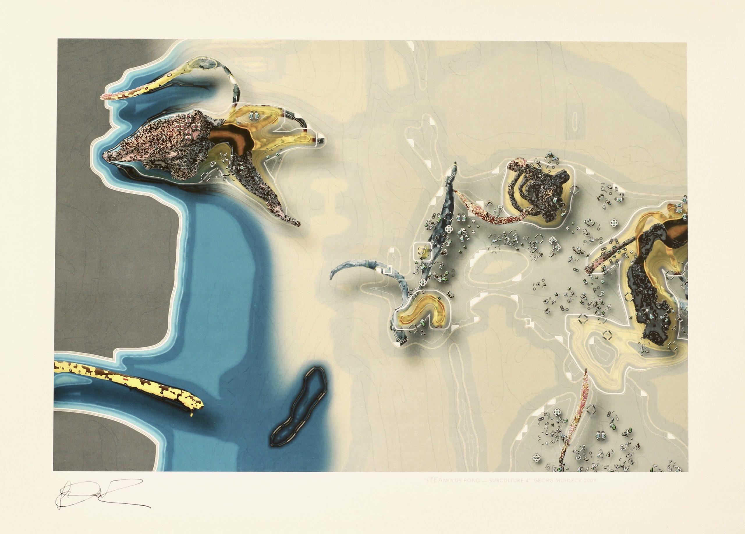 Georg Mühleck, sTEAmulus pond_subculture4, Hahnemühle Kunstdruck, 29,6 x 42 cm, Auflage von 50, 2009