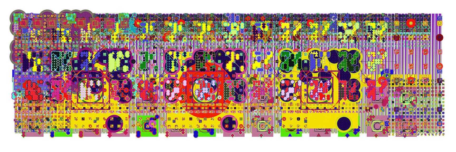 Mark Wilson, e20808, haltbarer Inkjetprint auf Hadernpapier, 23 x 61 cm, Edition von 5, signiert und datiert, 2011