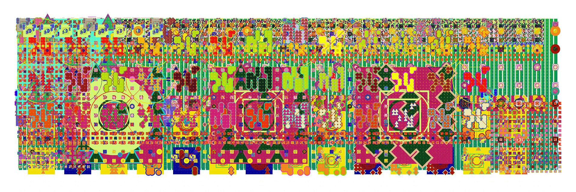 Mark Wilson, e20809, haltbarer Inkjetprint auf Hadernpapier, 23 x 61 cm, Edition von 5, signiert und datiert, 2011