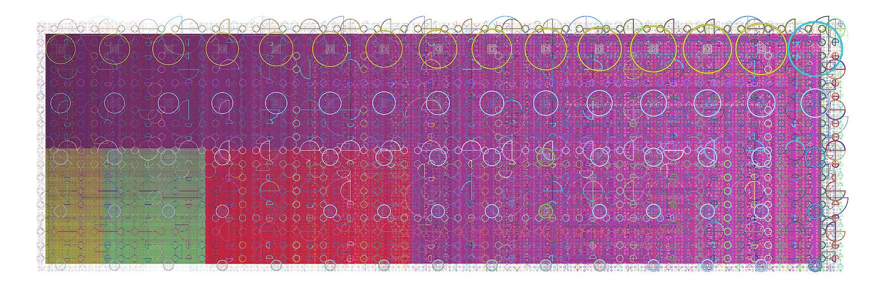Mark Wilson, e5302, haltbarer Inkjetprint auf Hadernpapier, 23 x 61 cm, Edition von 5, signiert und datiert, 2008
