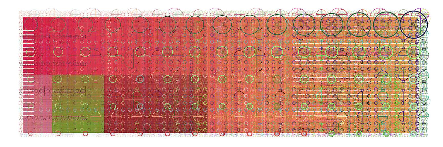 Mark Wilson, e5313, haltbarer Inkjetprint auf Hadernpapier, 23 x 61 cm, Edition von 5, signiert und datiert, 2008