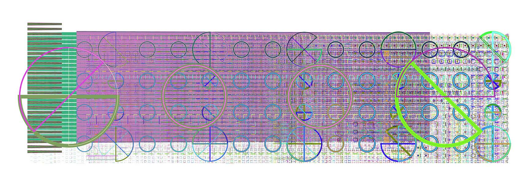 Mark Wilson, e6201, haltbarer Inkjetprint auf Hadernpapier, 23 x 61 cm, Edition von 5, signiert und datiert, 2009