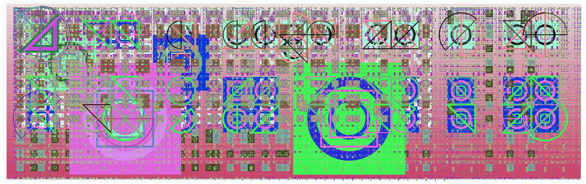 Mark Wilson, e8425, haltbarer Inkjetprint auf Hadernpapier, 23 x 61 cm, Edition von 5, signiert und datiert, 2009