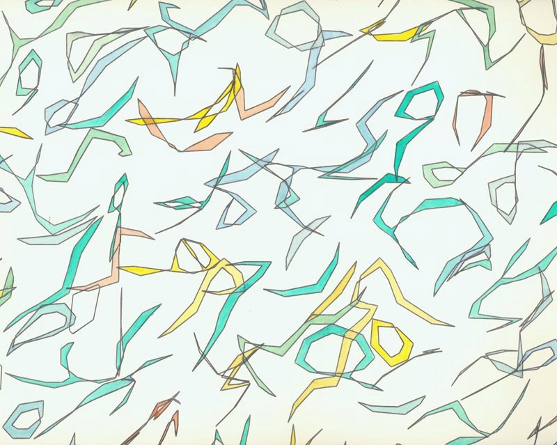Peter Beyls, Ausschnitt EWA (Sym), Plotterzeichnung, Tinte auf Papier, 55 x 73 cm, 1987