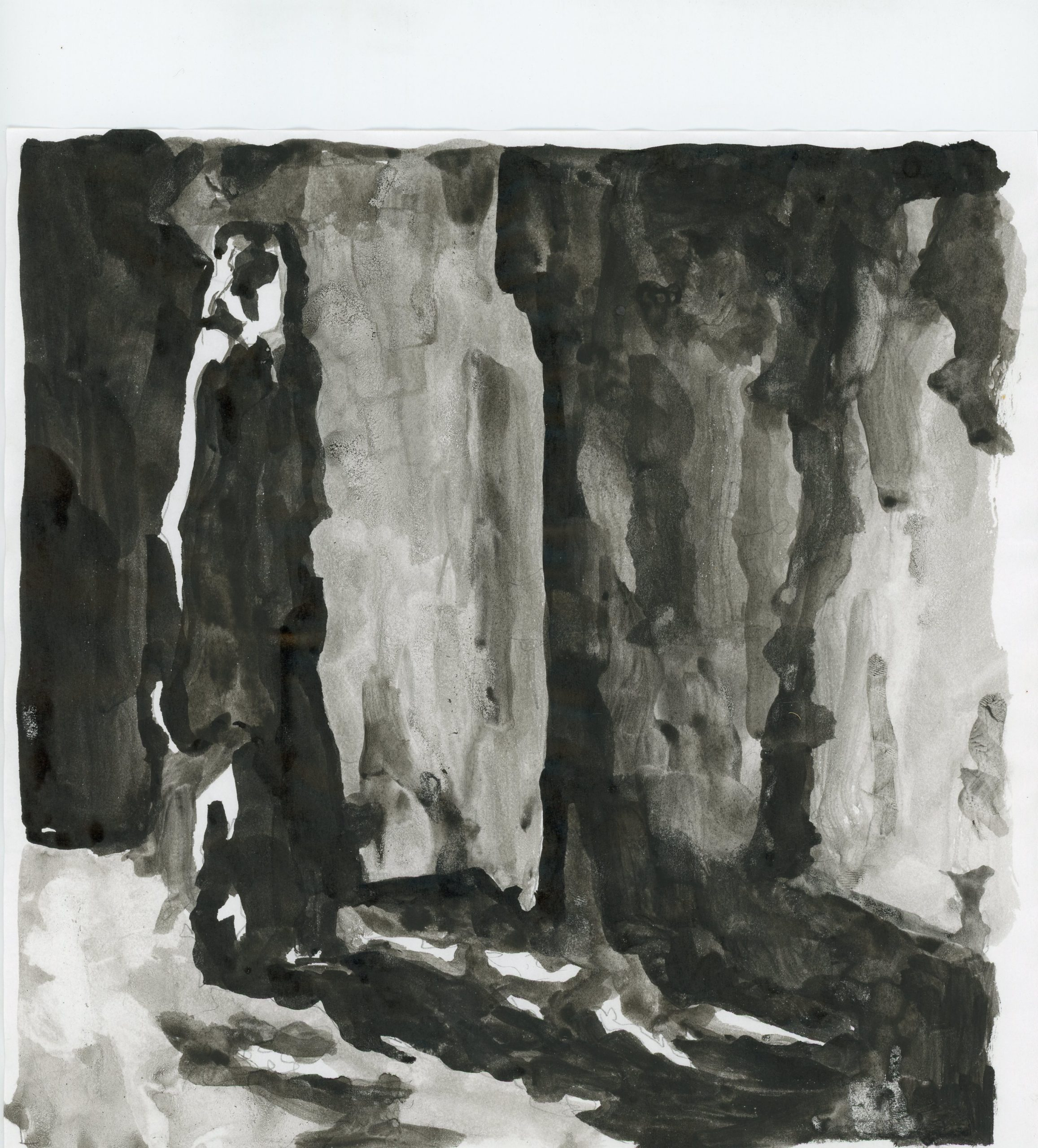 Anna Ridler, Fall of the House of Usher II, 1_7530, Tinte auf Papier, 21 x 21 cm, 2017