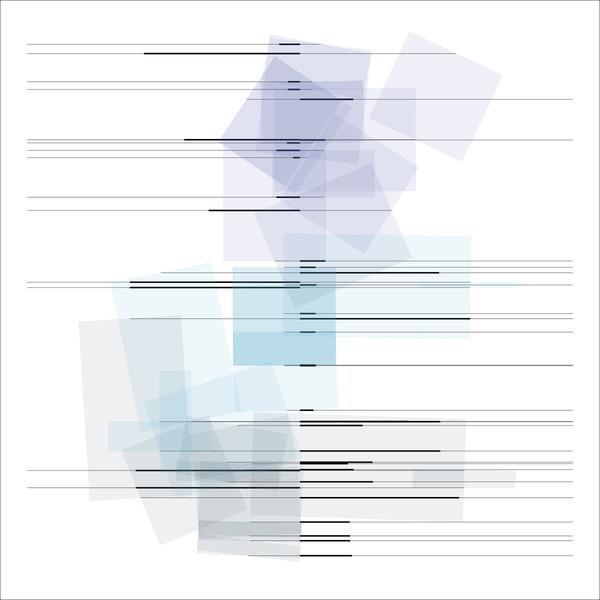 Manfred Mohr, P2602_aa_3, Pigmenttinte auf Papier, 42 x 42 cm (gerahmt 50 x 50 cm), 2019