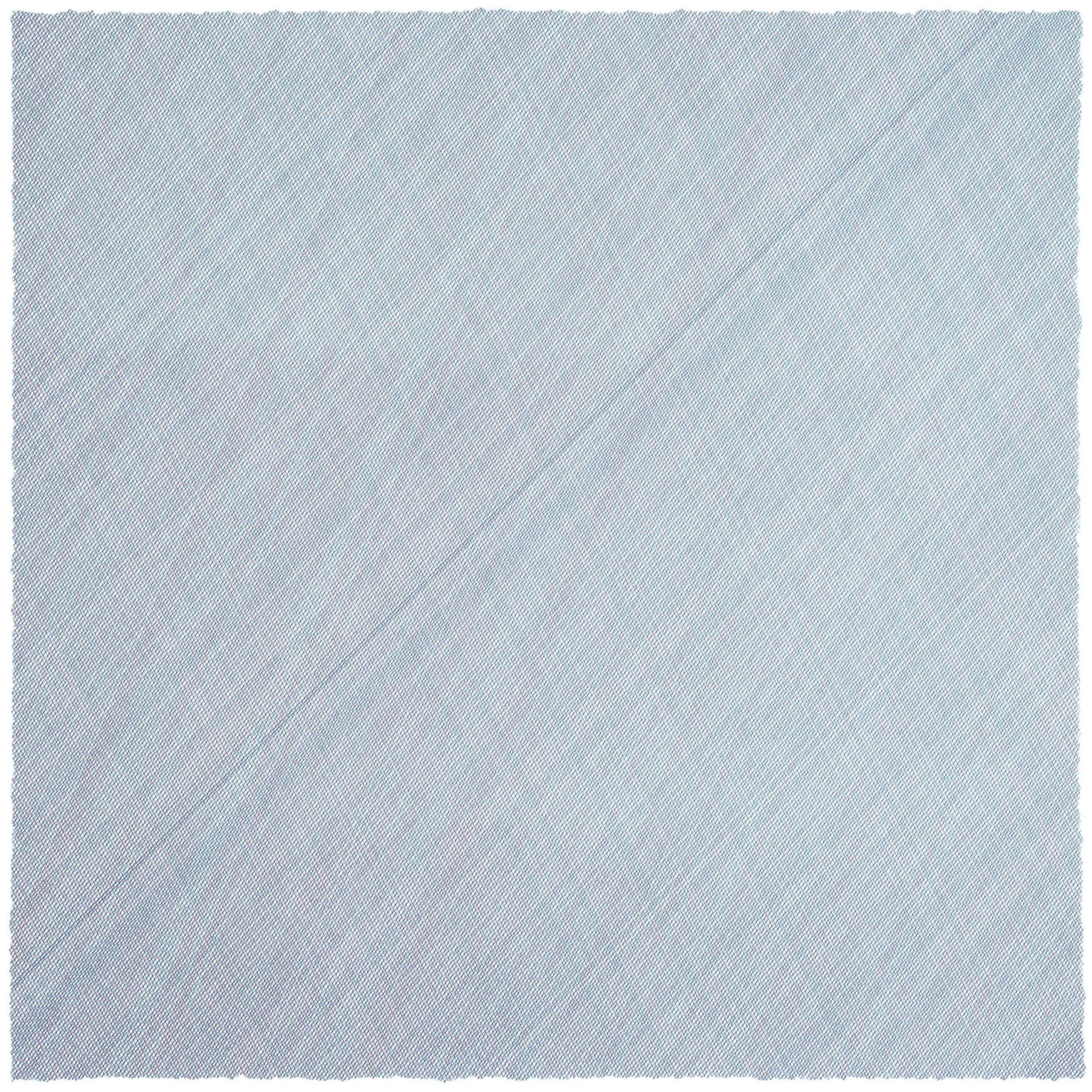 Casey Reas, RGB-2-69°-117°-45°, Plotterzeichnung, Tinte auf Papier, 45,7 x 45,7 cm, 2020