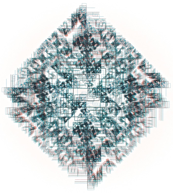 Jean-Pierre Hébert, Encrypted Note in a Cipher - Blurred, III, Plotterzeichnung, Tinte auf Papier, 24 x 21,5 cm, 1987