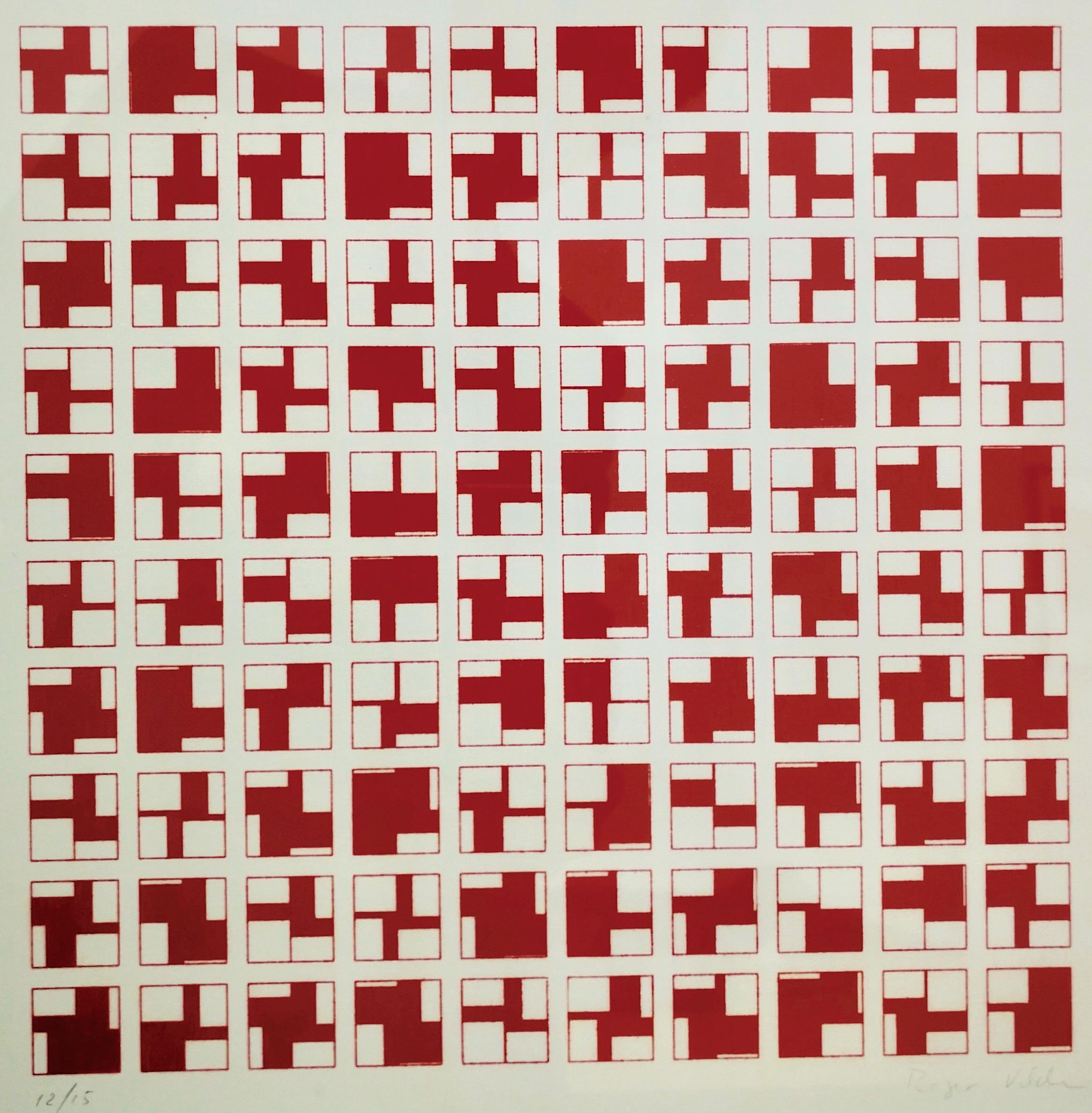 Roger Vilder, Ohne Titel, Siebdruck, 15 Exemplare, 50 x 67 cm, 1976