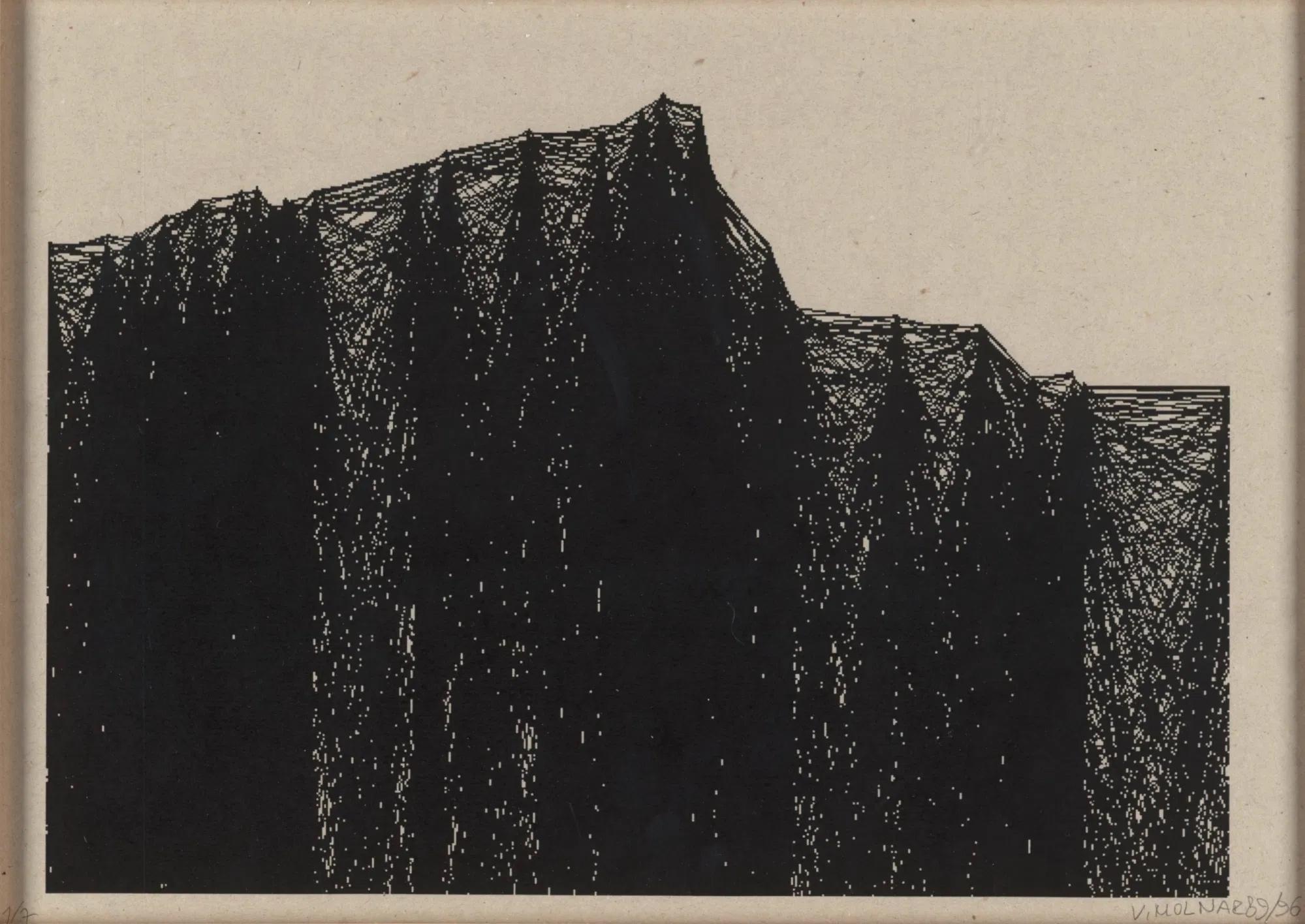 Vera Molnar, Variations St. Victoire, Serie N° 0-12, Digitaldruck, Auflage 1/7, 30 x 42 cm, 1989-1996